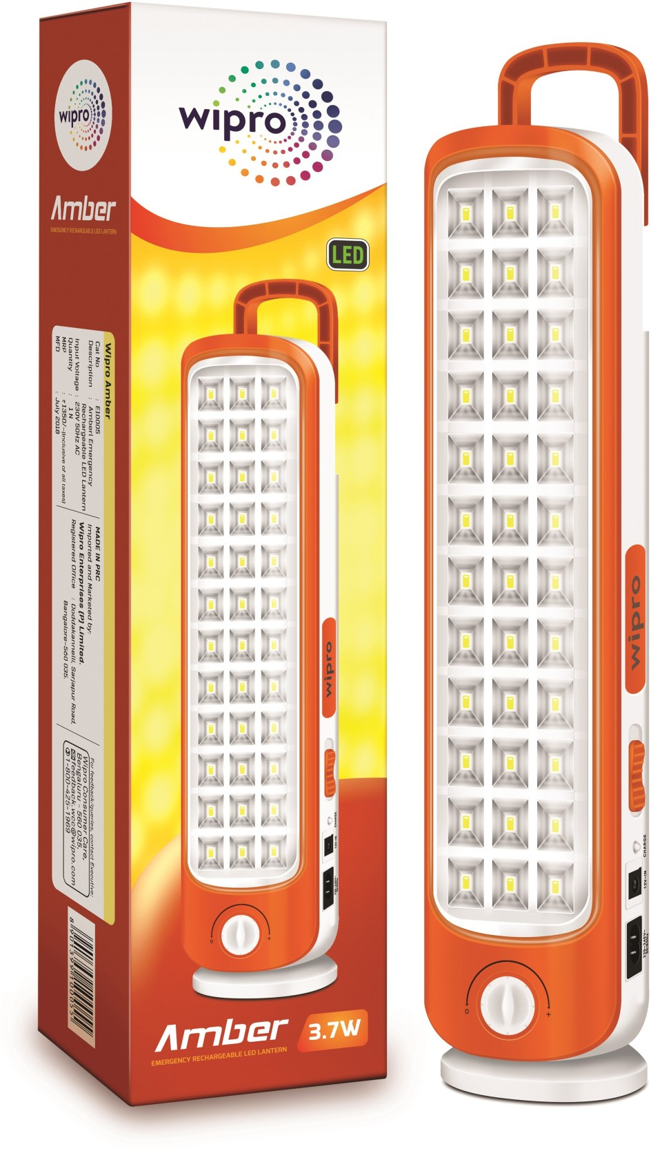 Wipro Amber Emergency Light Price In India Buy Lamp Battery Protector Add To Cart