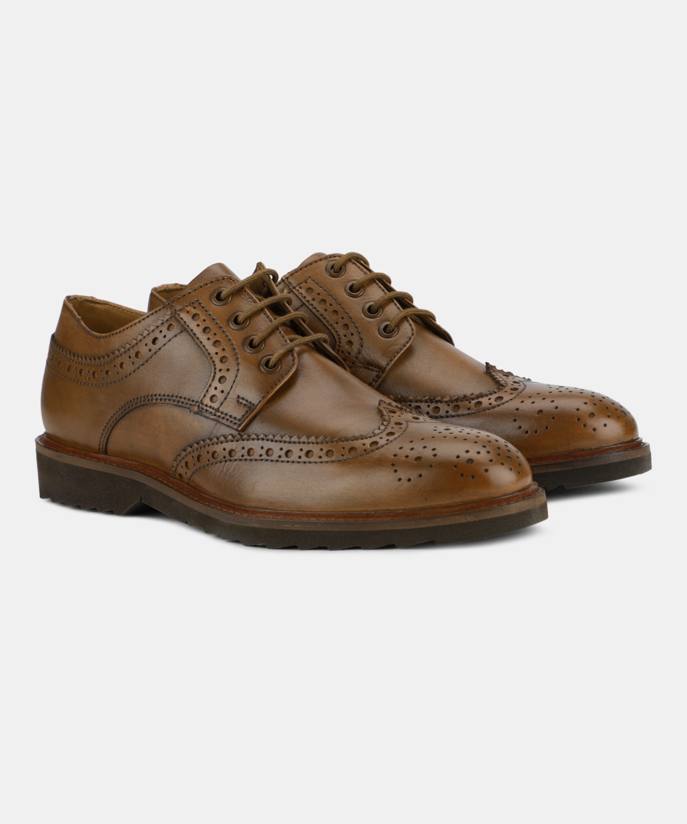 Van Heusen Brogues For Men - Buy Tan Color Van Heusen Brogues For ... 16b3fc472