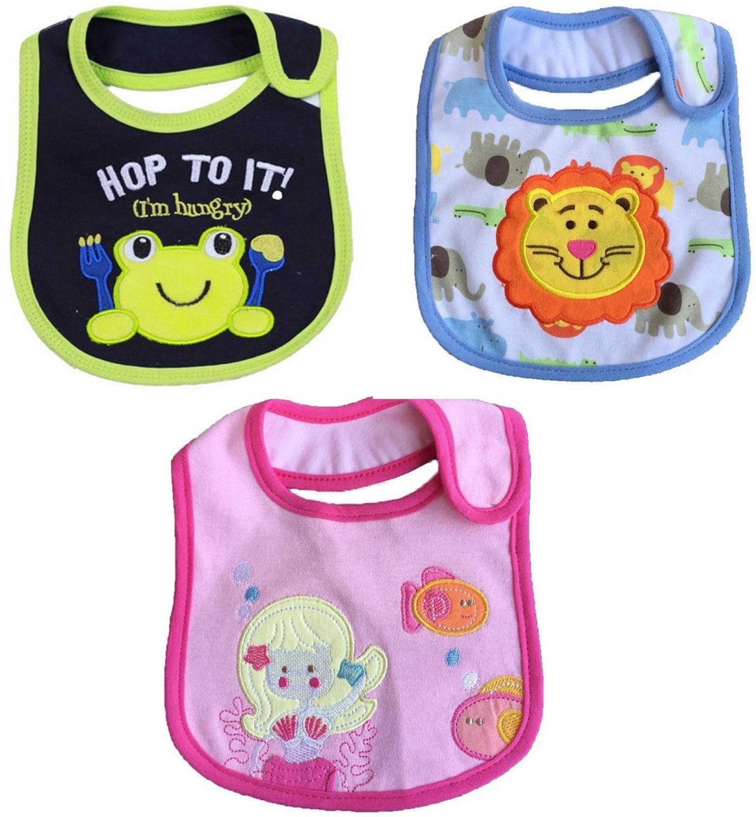 321d8e72aec8 Wishkey Baby Bibs for New Born Infants Set of 3