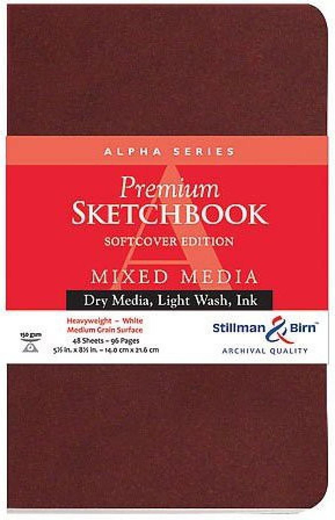 28 Sheets, White Stillman  Birn Zeta Softcover Sketchbook Heavyweight 180lb
