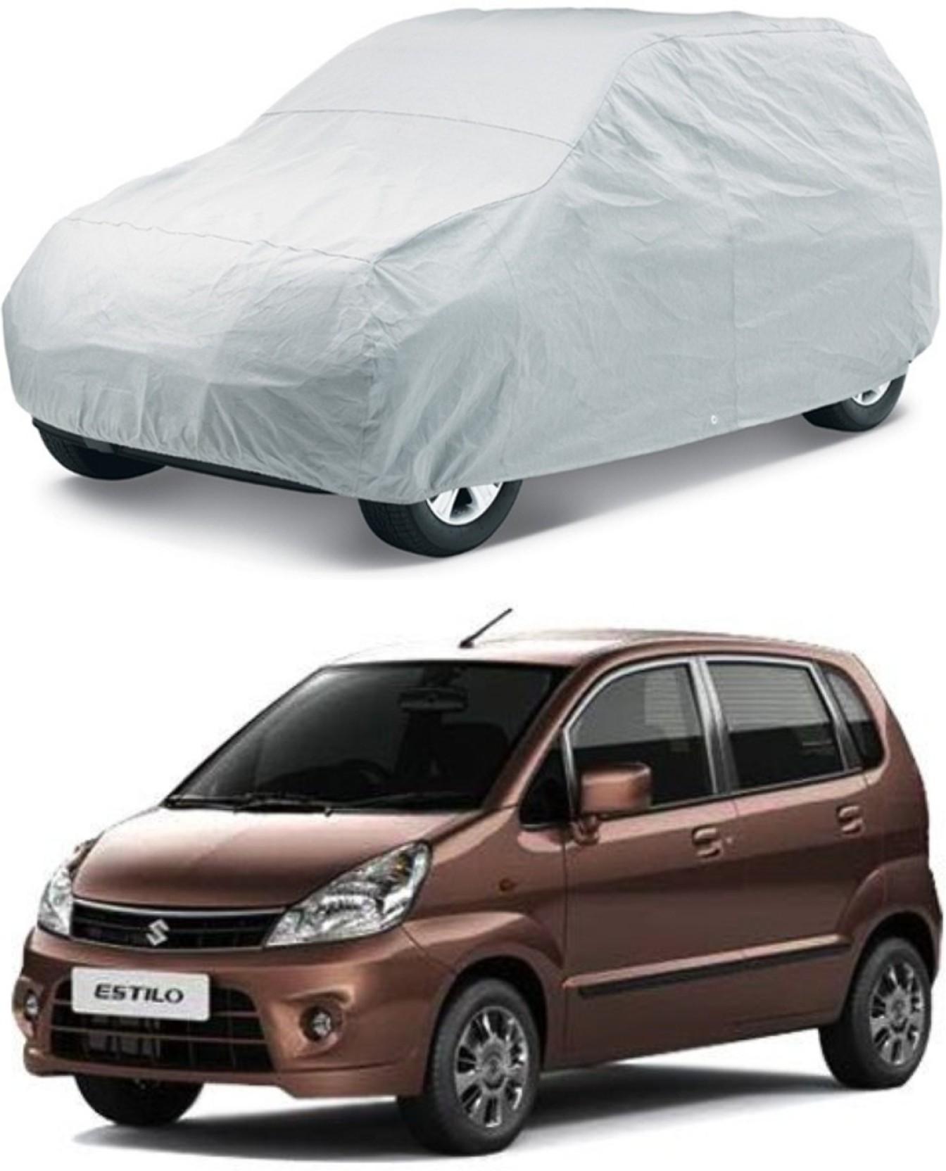 Hms car cover for maruti suzuki zen estilo without mirror pockets silver for 2015 2016 2017 2018 models