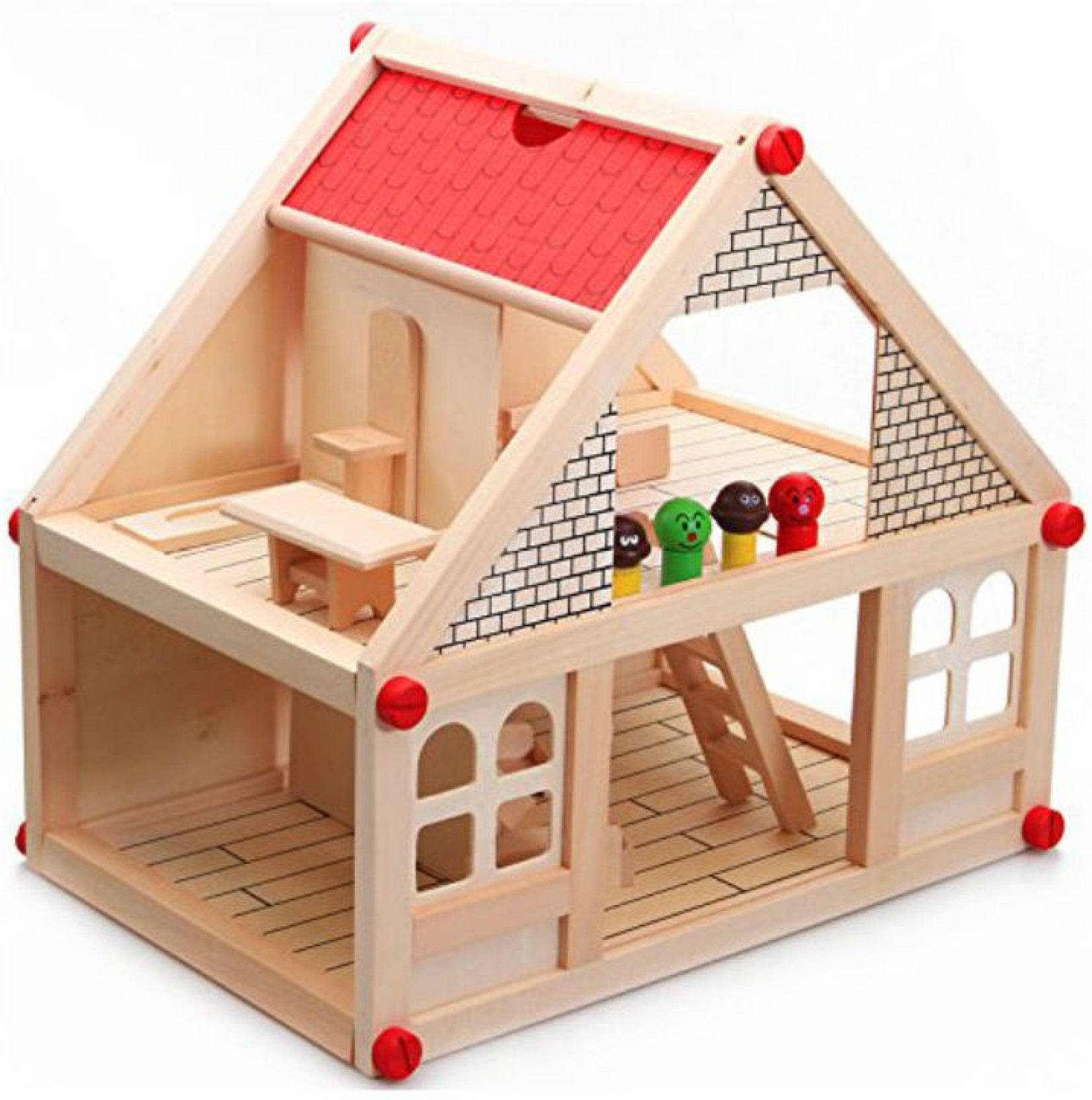 Shrih Wooden Assembling Two Storey My Small Villa Wooden Toys