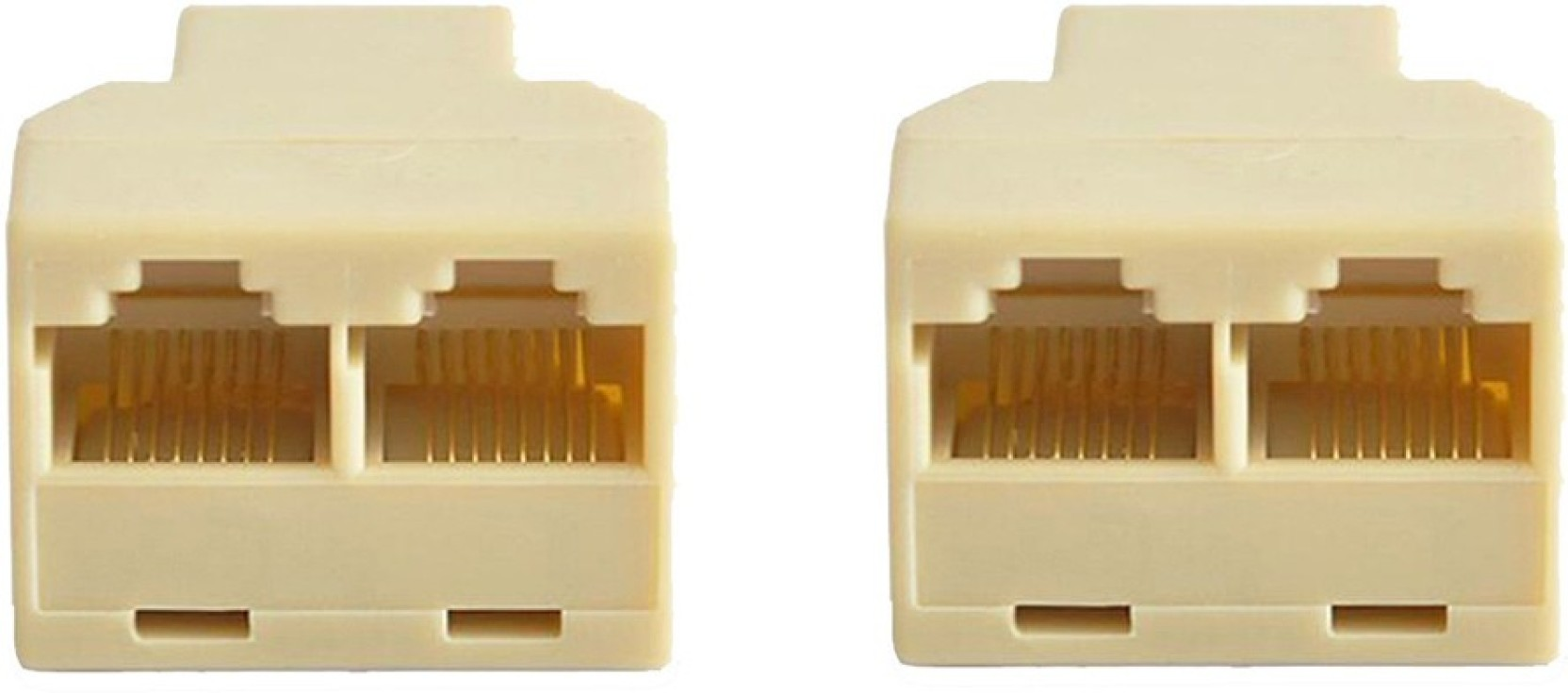 Acutas 2pcs Rj 45 Socket Rj45 Splitter Connector Cat5 Cat6 Lan Wiring Connectors Ethernet Adapter 8p8c Share