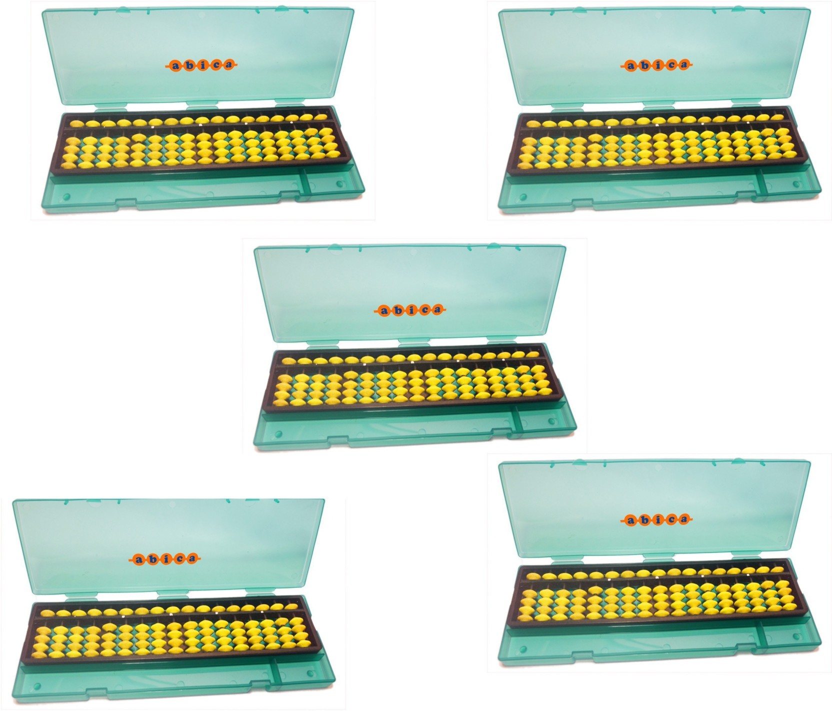 Abica Abacus math learning kit for kids Yellow 17 rod with box ...