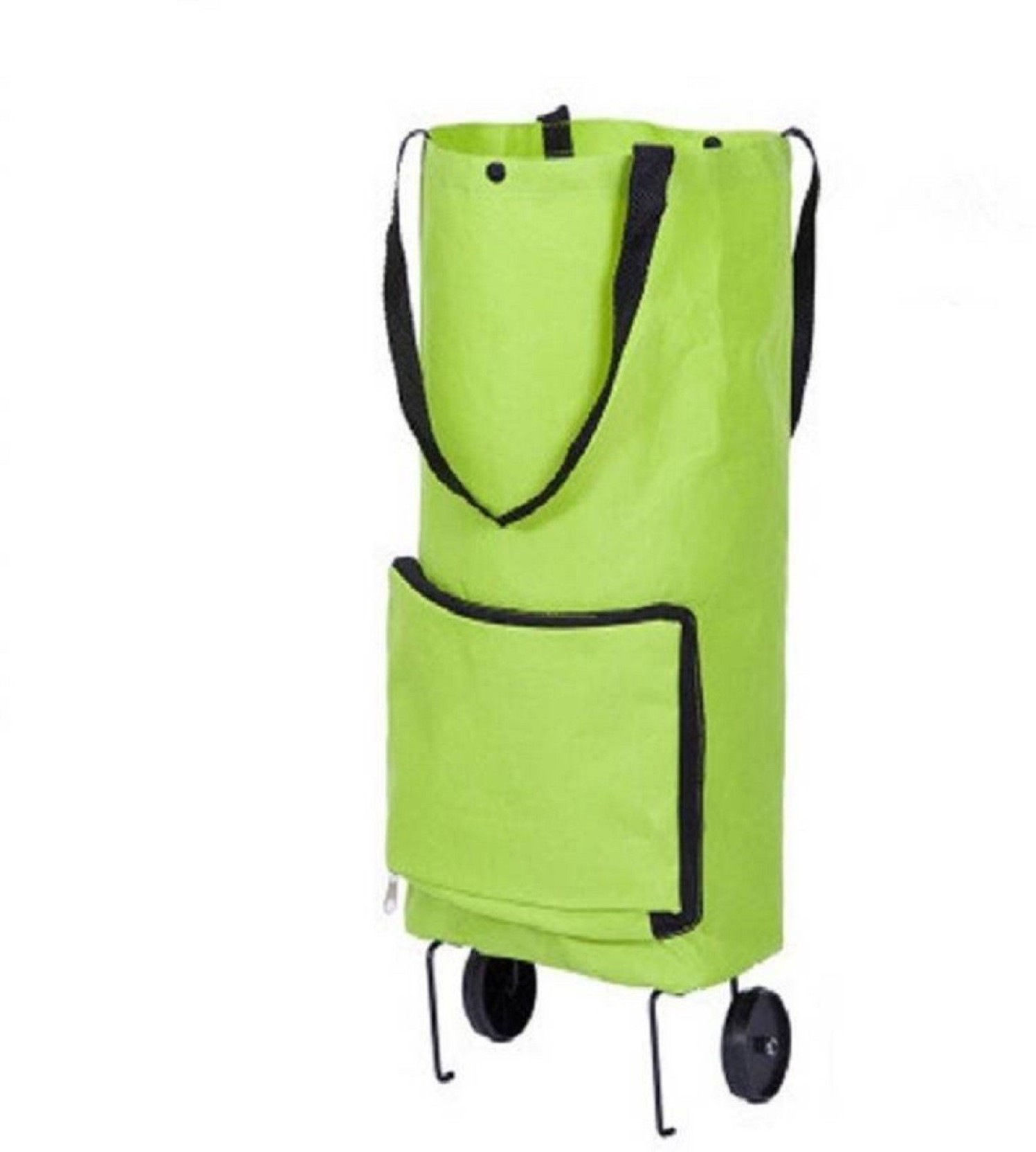 58e92d201558 Buyerzone 2 Wheel Shopping Trolley, Lightweight Folding Travel Bag ...