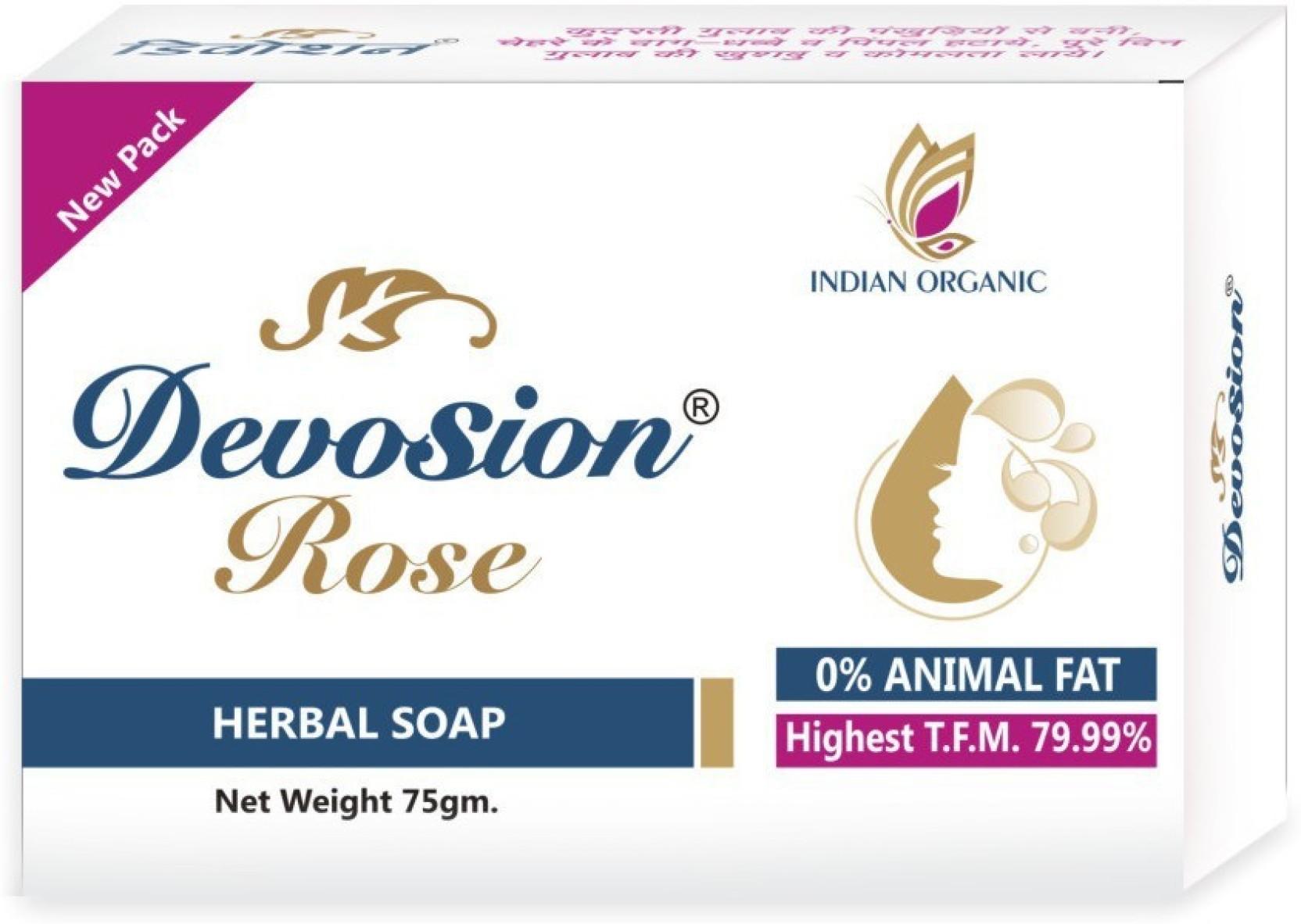 Devosion Rose Soap Price In India Buy Online Sabun Herbal Add To Cart