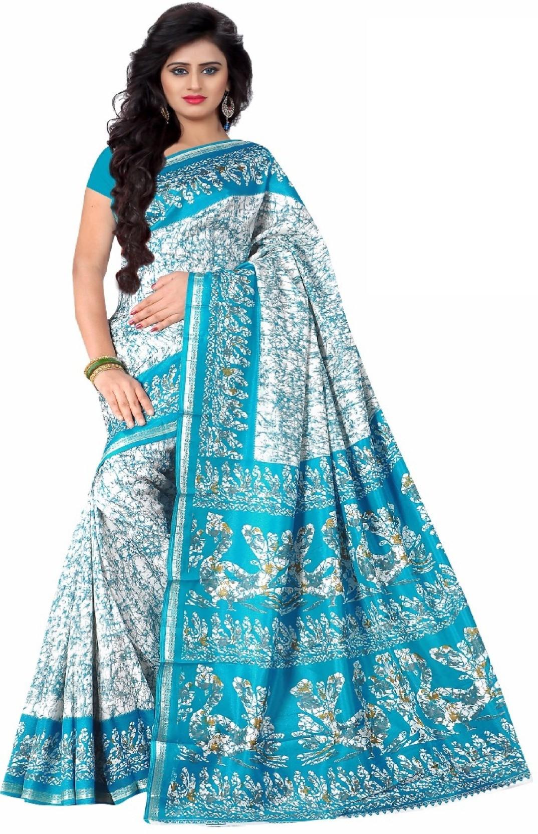 9cd29a12cf Buy Design Willa Printed Fashion Dupion Silk Green Sarees Online ...