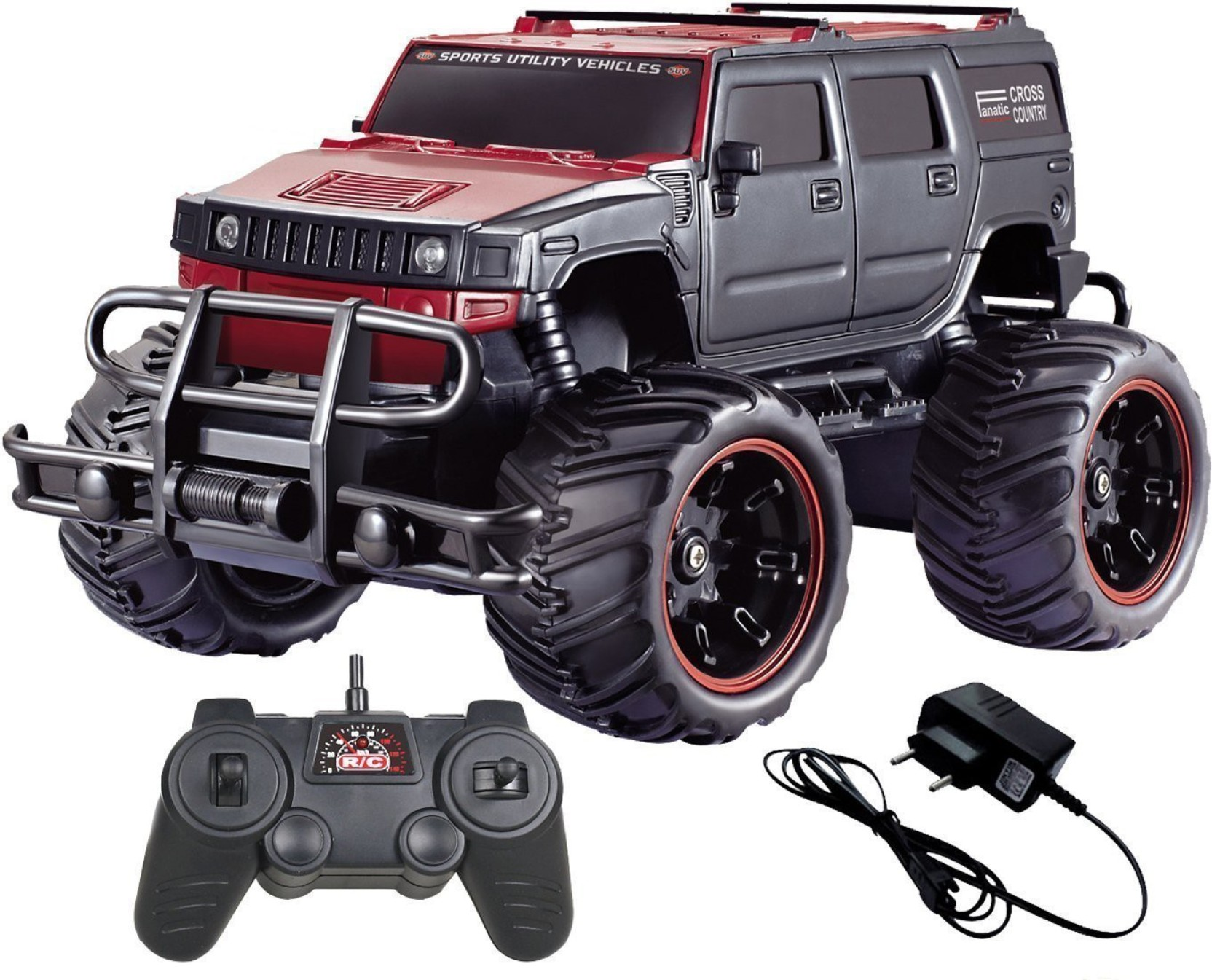 Toykart Remote Control Mad Racing Cross Country Hummer Style Monster Dump Truck Off Road Music 14 Cm Home