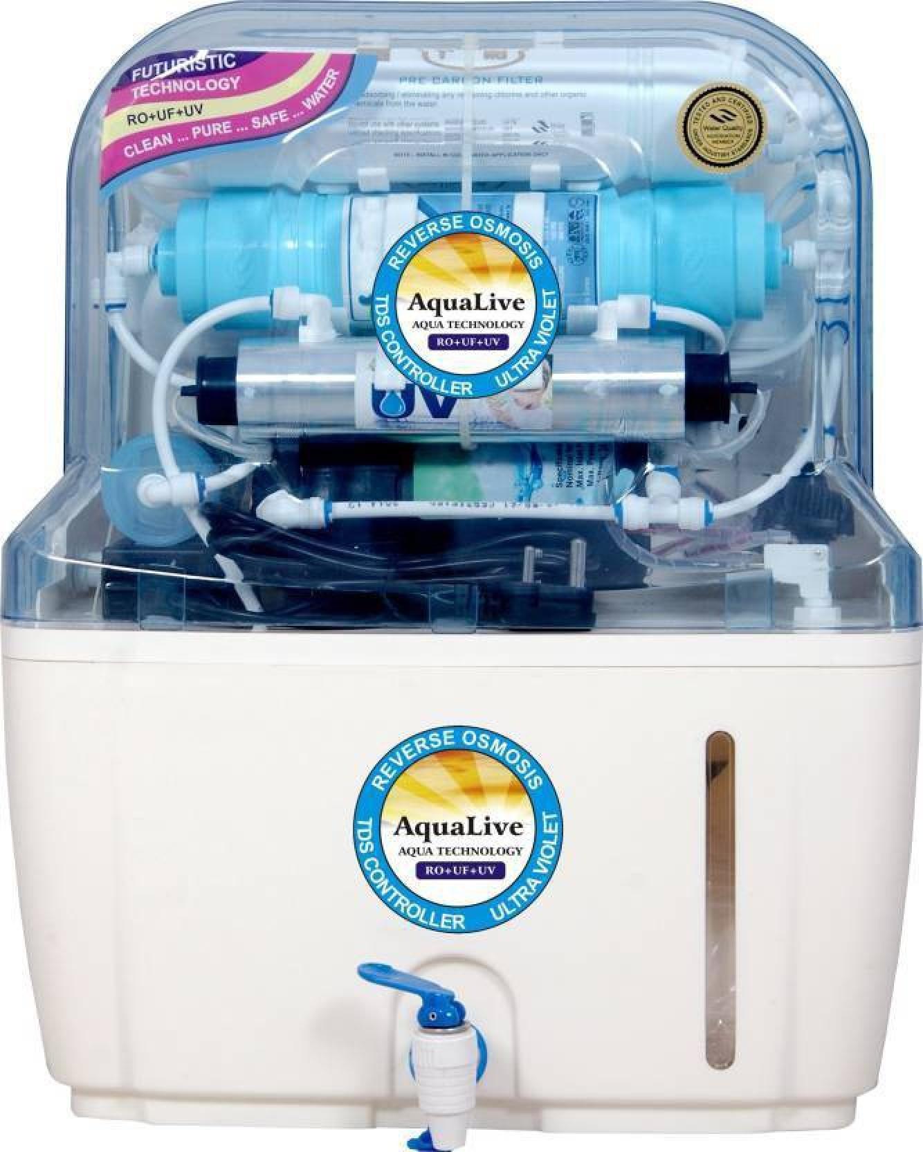 AQUALIVE V Plus Swift Bio++ Alkaline 15 L RO + UV +UF Water