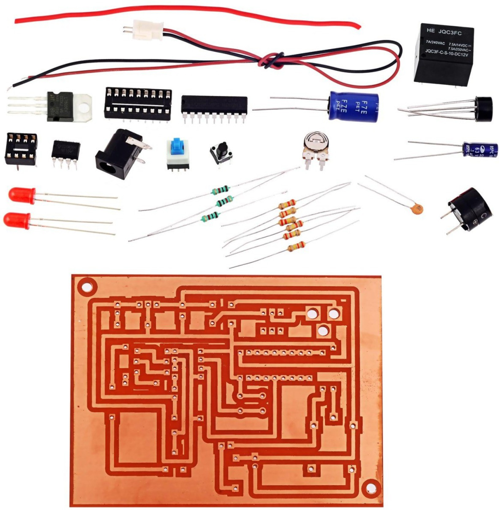 Kitsguru School Bell Alarm Lgkt034 Educational Electronic Hobby Kit Circuit Add To Cart