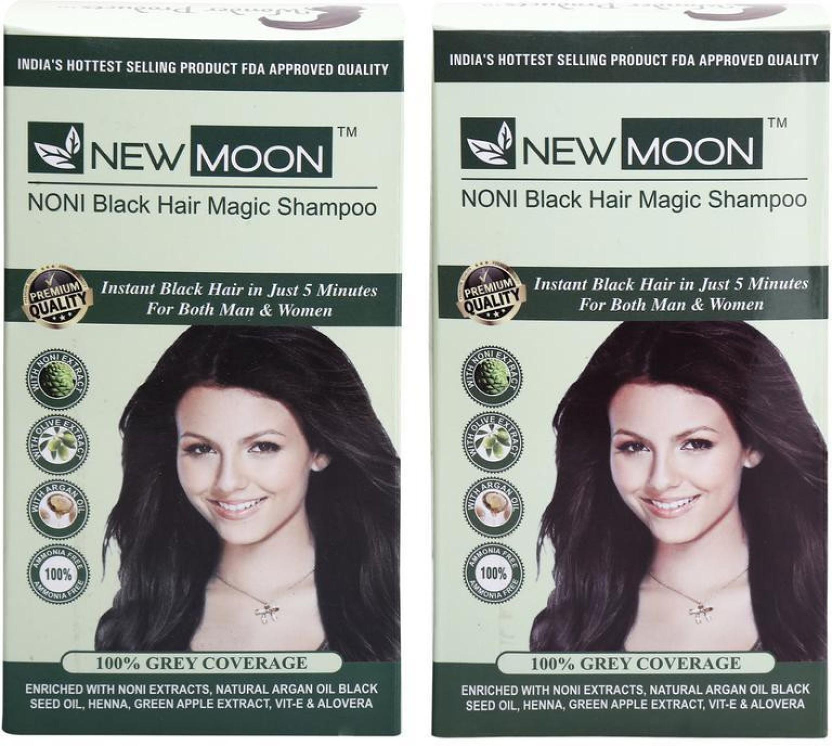 New Moon Pack Of 40 Pcs 15 Ml Noni Beard Herbal Dye Hair Color