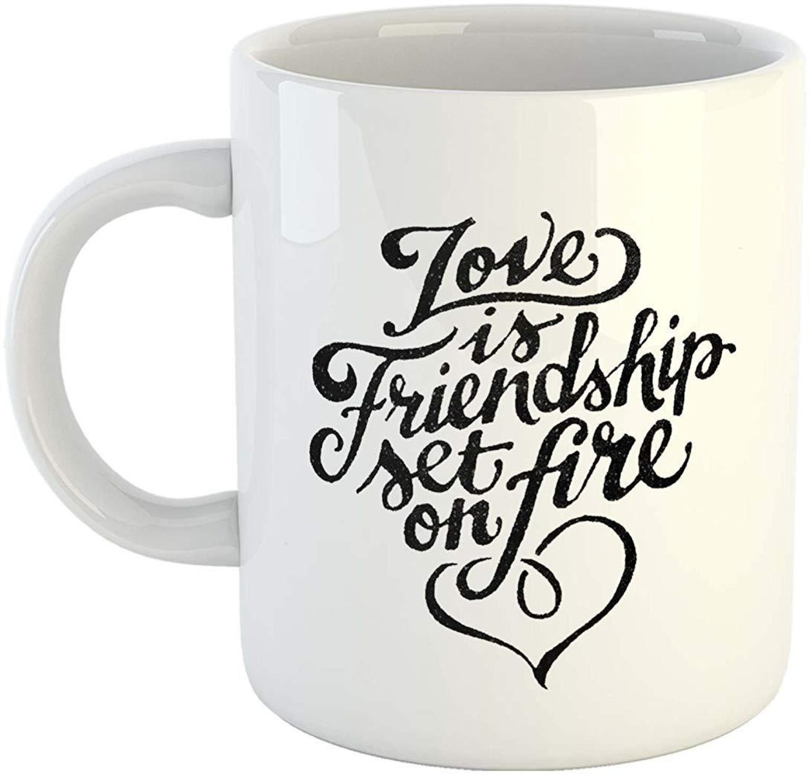 Ikraft Love Is Friendship Set On Fire Quote Printed Coffeemug To Circuit Board Manufactureronline Quoteprinted Add Cart