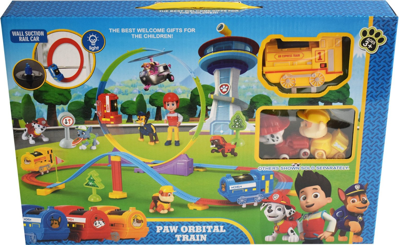Paw Patrol Orbital Construction Train Track Set Toy - Orbital ... 3813170508