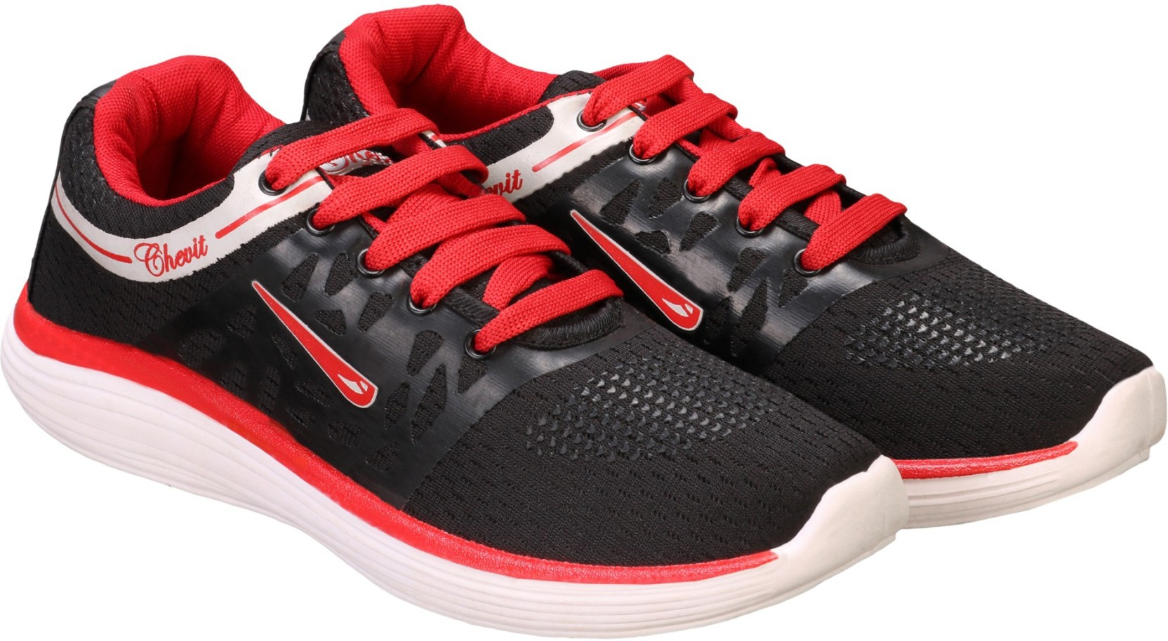 bc8afe8aba8 Chevit Black & Red Sports Shoes (Running Shoes) Running Shoes For Men  (Black, Red)