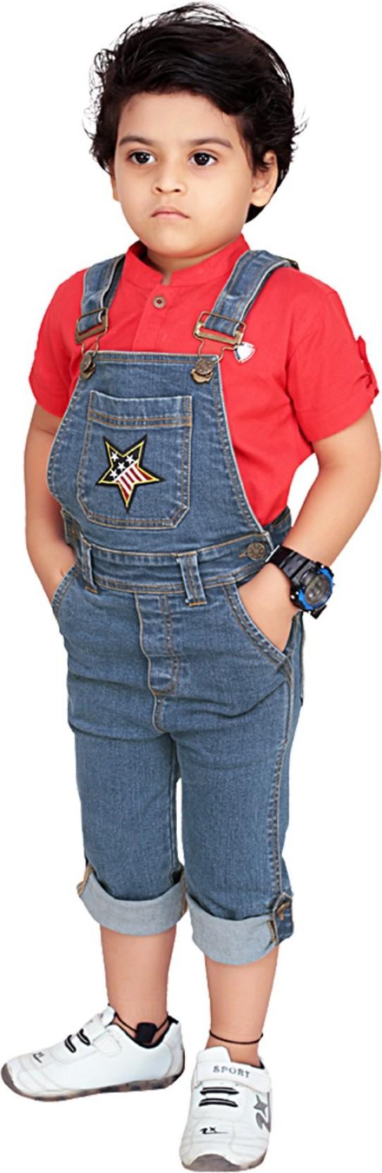29240aaa616 Olele Dungaree For Boys Solid Denim Price in India - Buy Olele ...