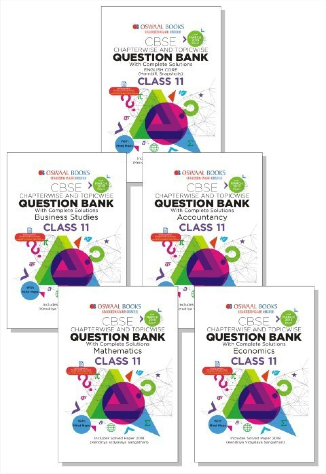 Oswaal CBSE Question Bank Class 11 (Set of 4 Books) English Core