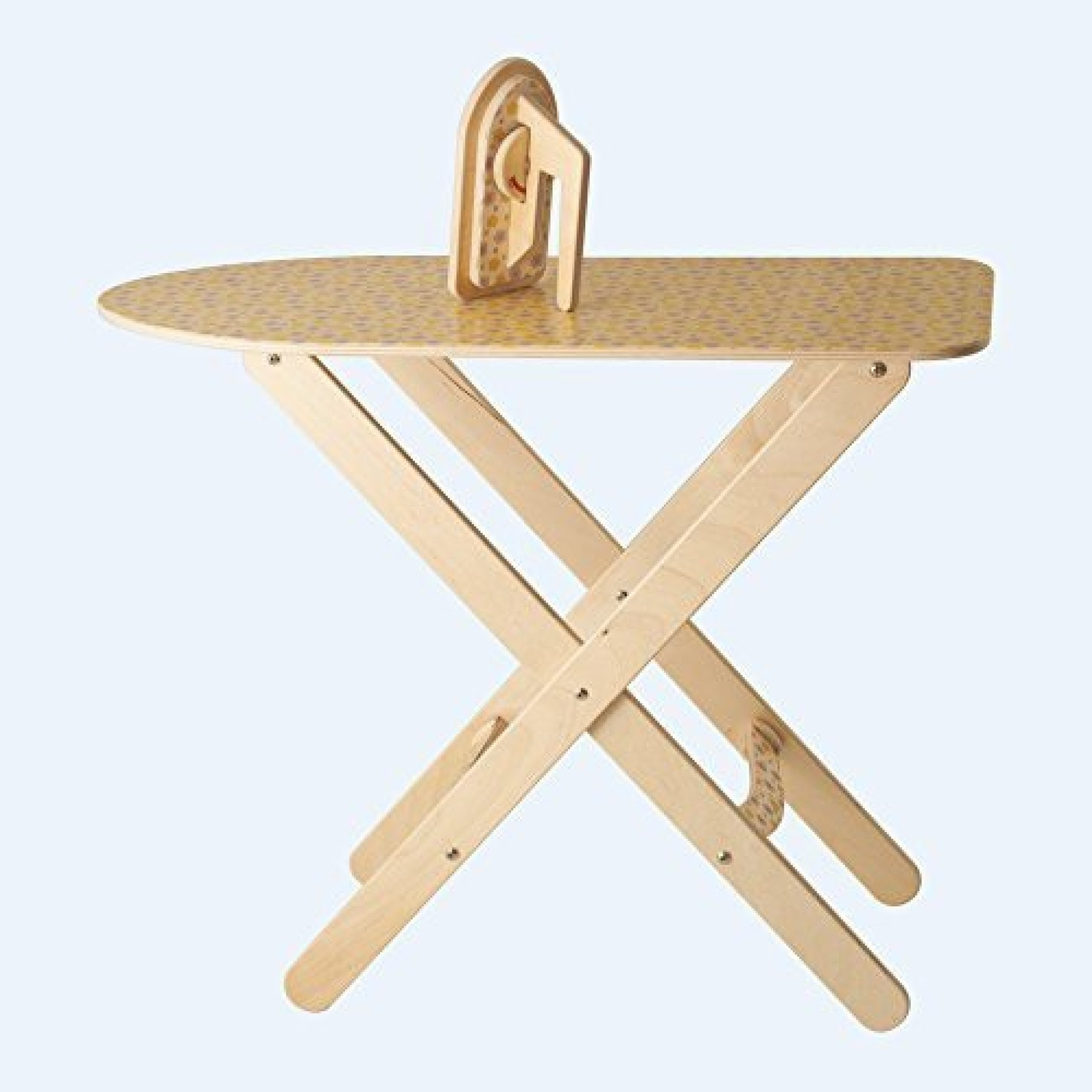 generic dida - ironing board with iron toy wooden imitation