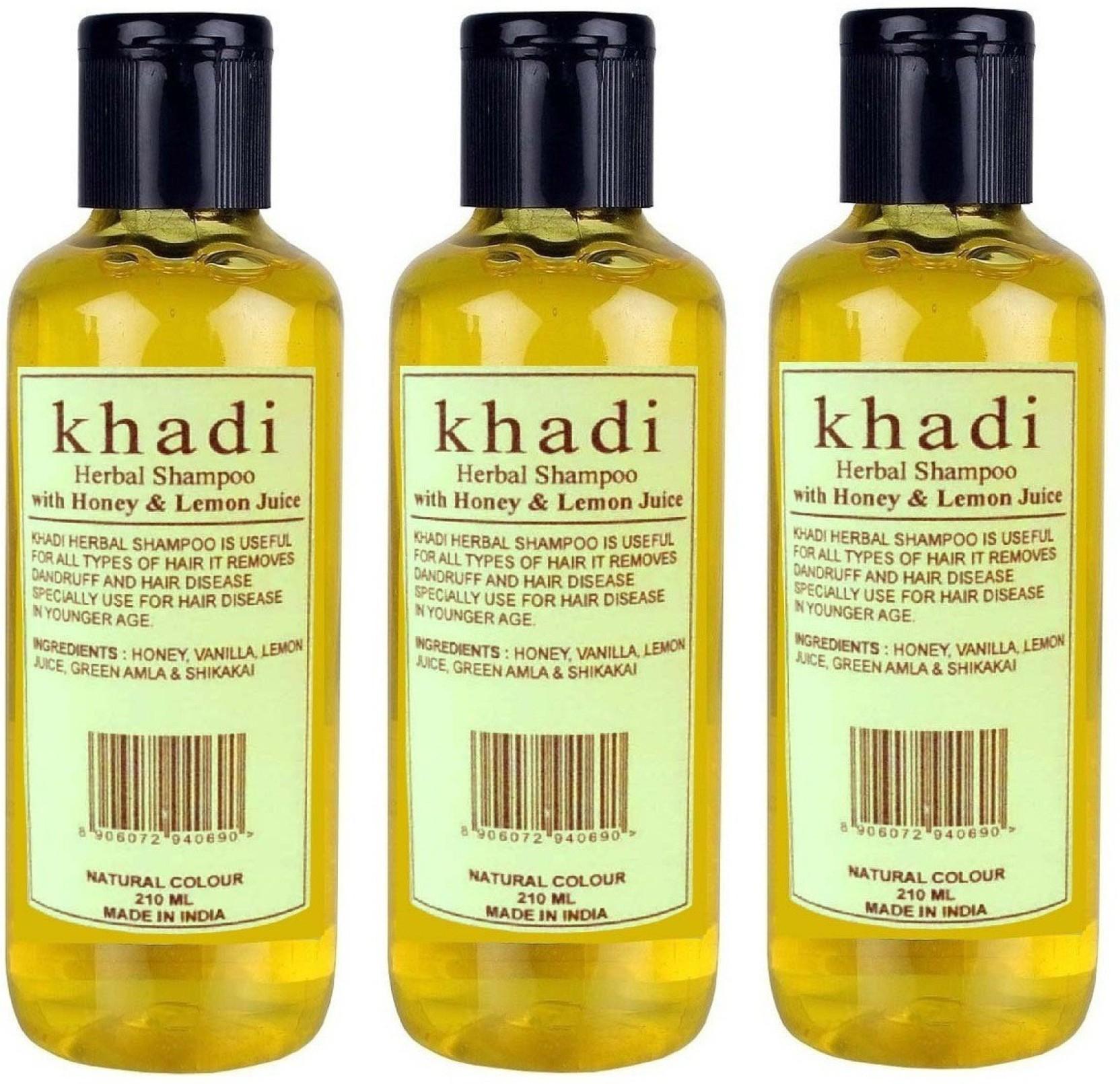 Khadi Herbal Lemon &Honey Shampoo[PACK OF 3] - Price in