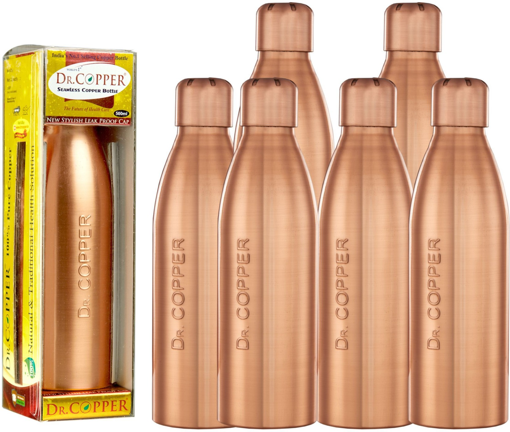 Dr Copper Water Bottle With New Stylish And Advanced Leak Proof Cap Sleek Baby Laundry Travel Wash Tube 100 Ml On Offer