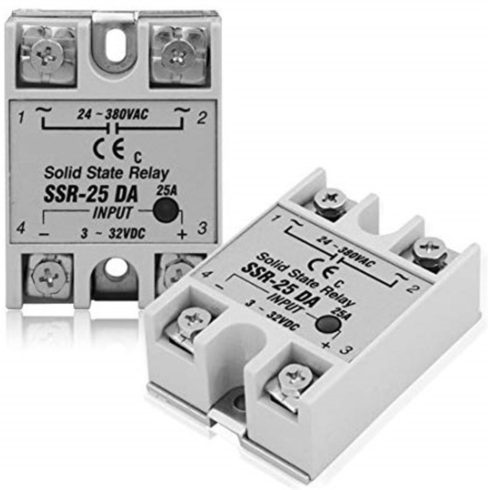 Robodo Solid State Relay Module Ssr 25da 25a 250v 3 32v Dc Input 24 Basics Of Add To Cart