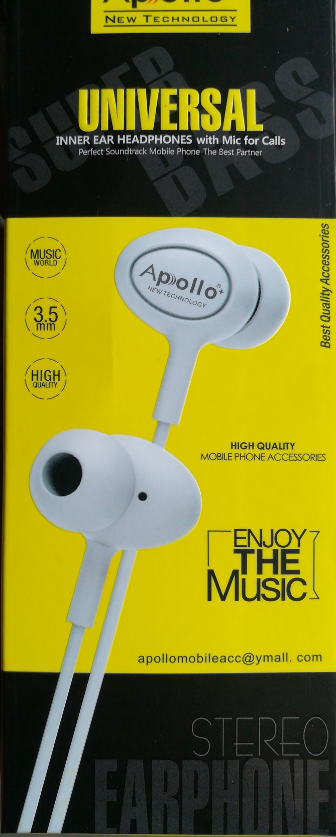 Apollo Plus Turbo Bass Stereo Dynamic Wired Headset With Mic Add To Cart