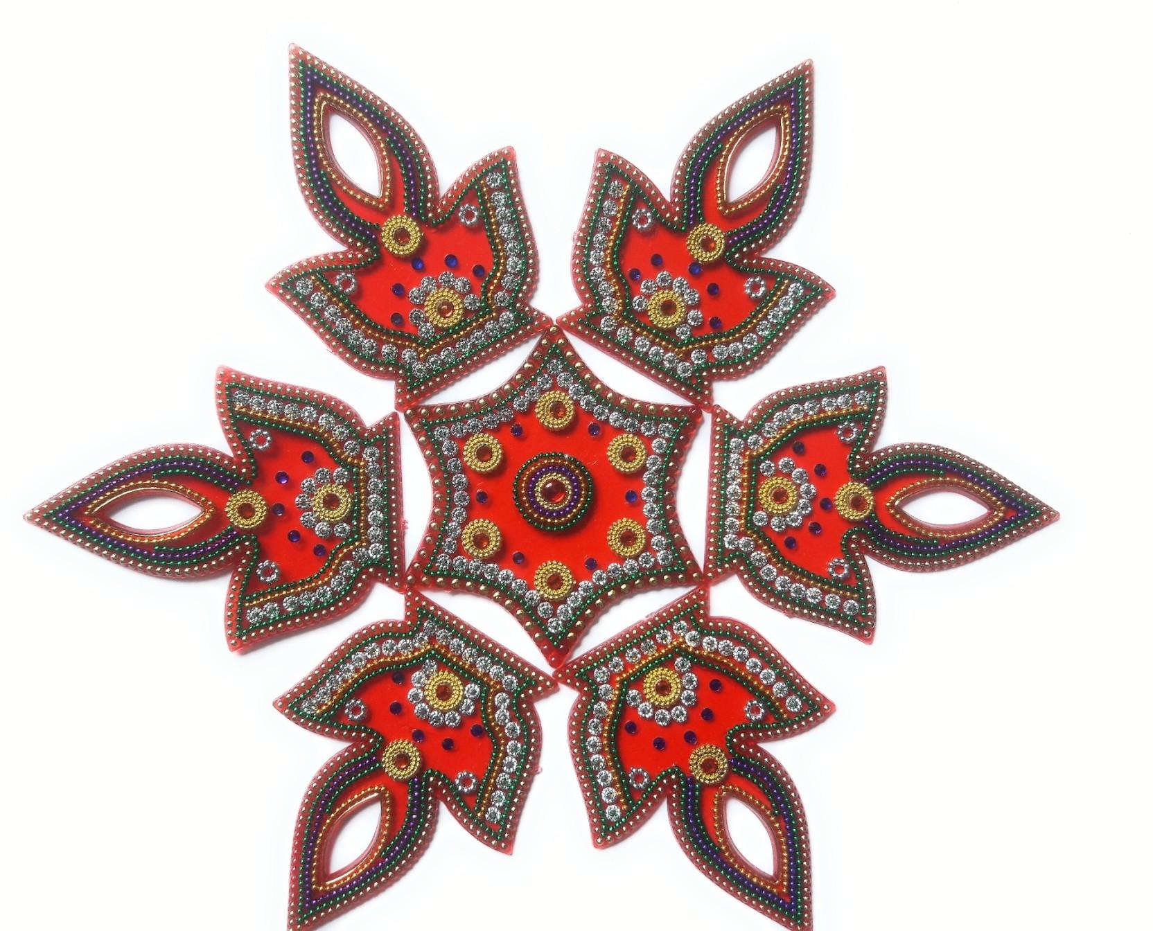 Ss Craft Creations Red Rangoli Design R 71 Rangoli Stencil Price