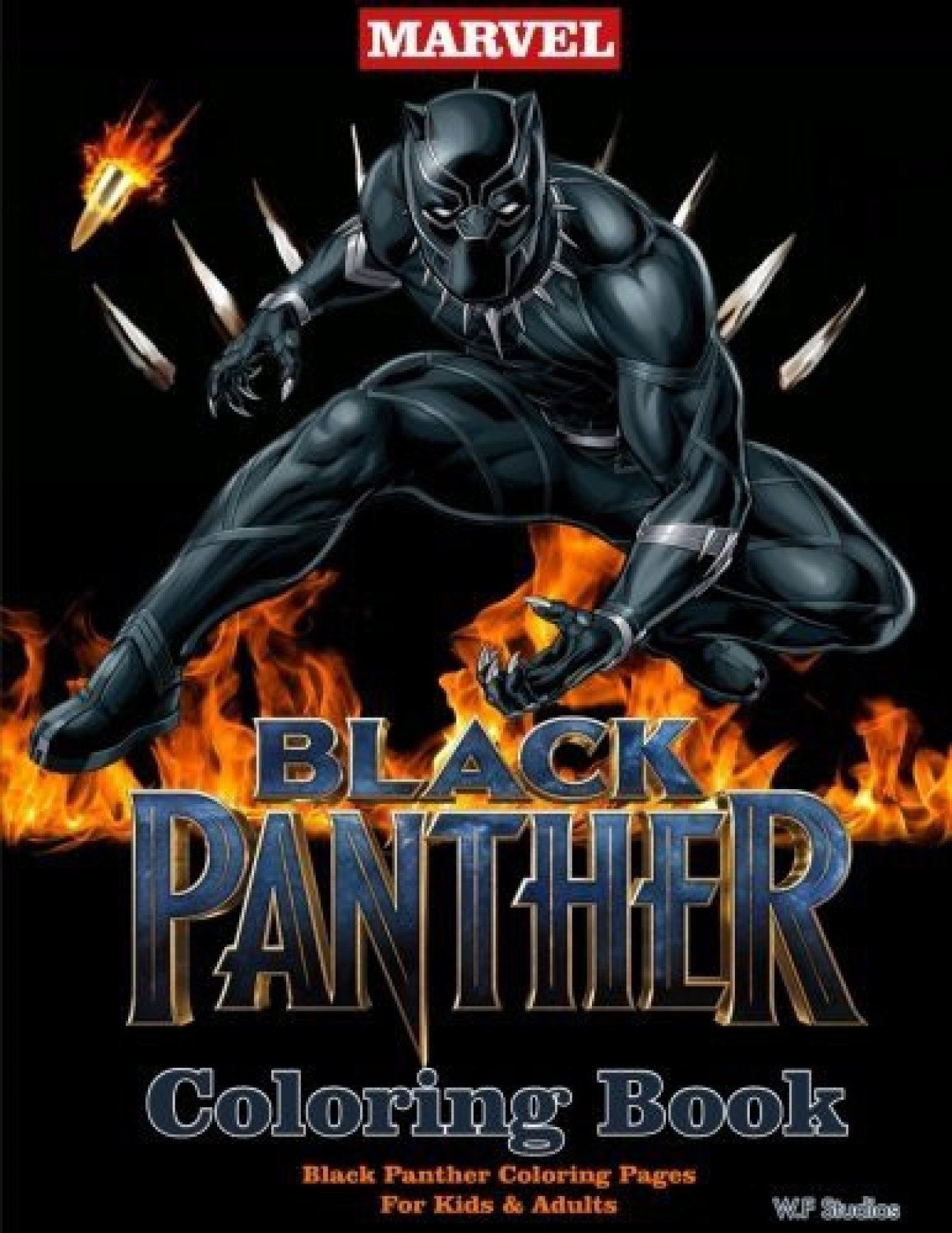 Black panther coloring pages suitable for both children adults on offer