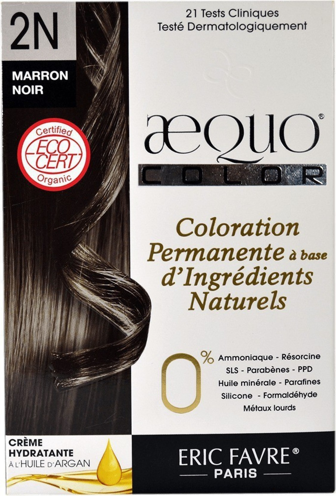 Aequo Bypurenaturals Hair Color Organic 2n Sable Black Brown French
