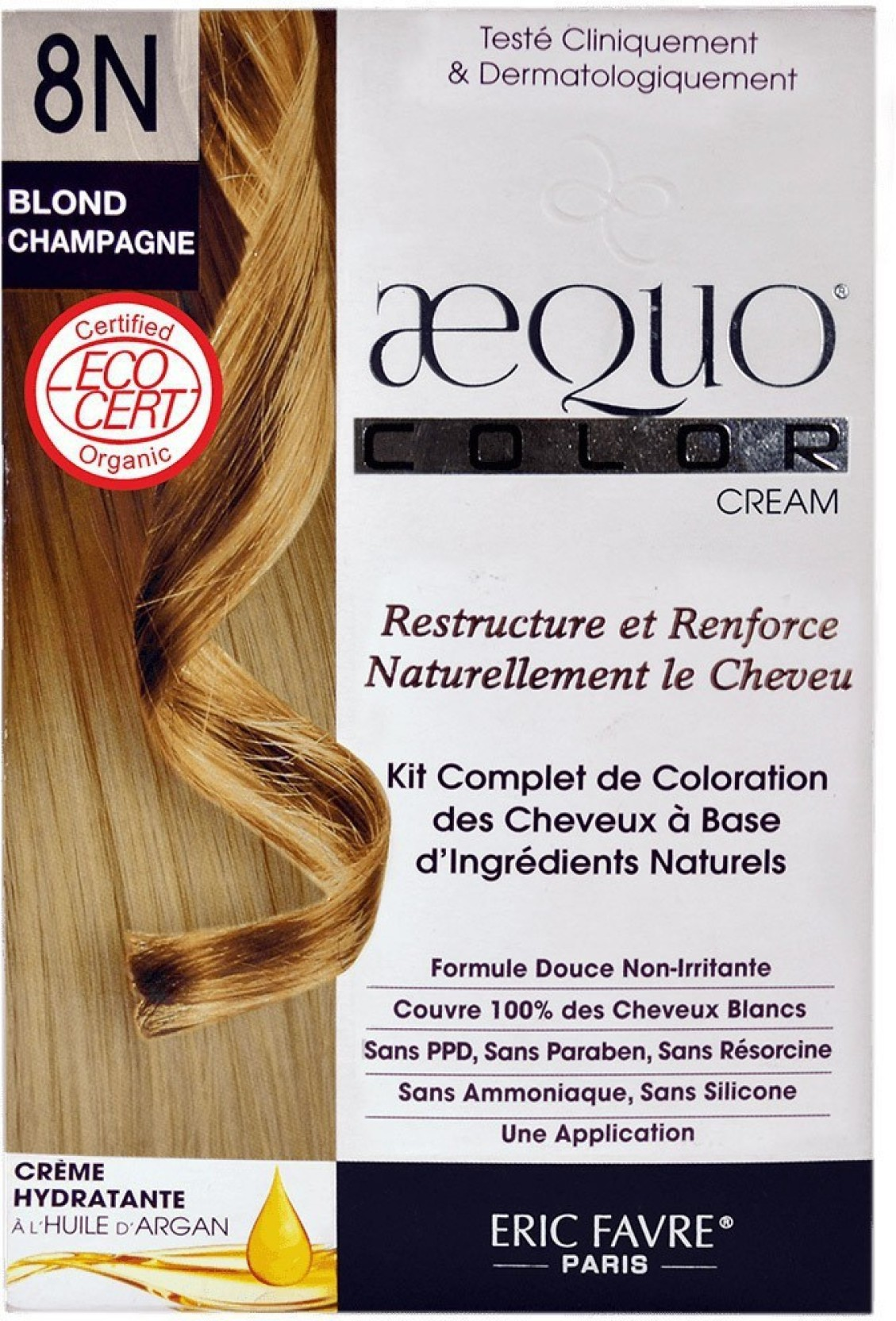 Aequo Bypurenaturals Hair Color Organic 8n Blonde Champagne French