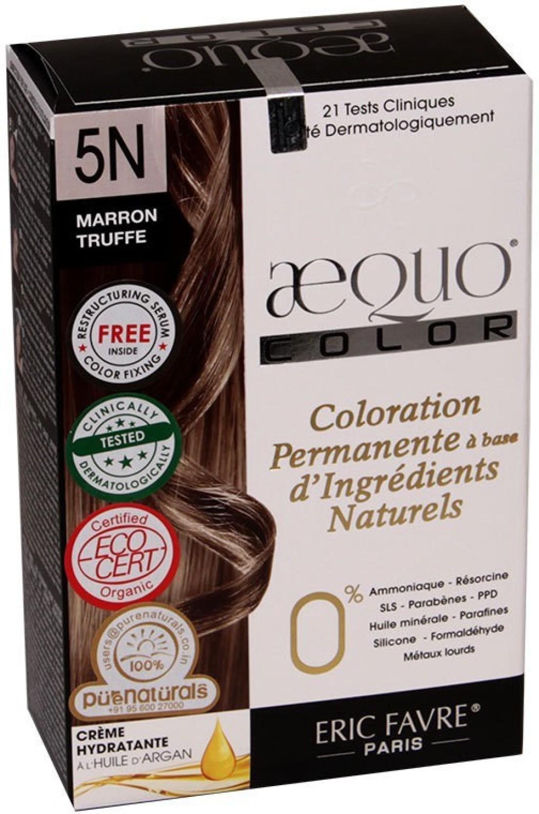 Aequo Color 5n Truffle Brown Organic Hair Colour Kit 160ml Hair