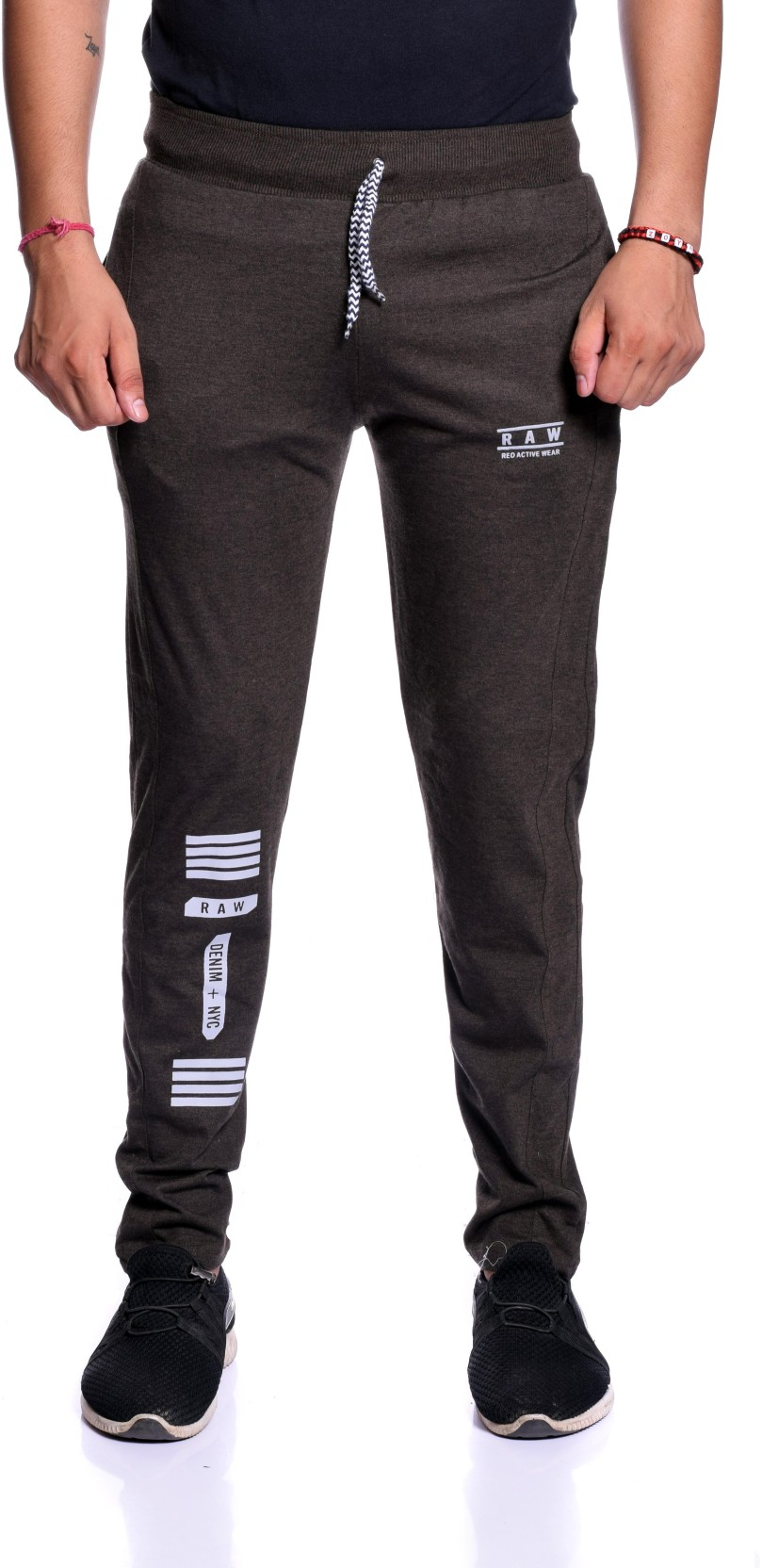 04134c4c89 Reo Active Wear (RAW) Striped Men Brown Track Pants - Buy Reo Active ...