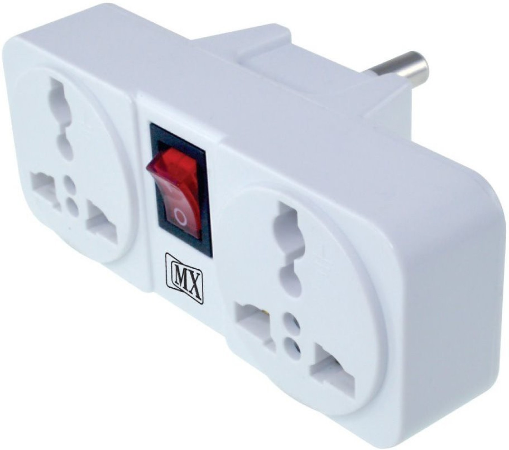 Maxcart 3 Pin 2 Way Universal Socket With Led Switch Pack Of Adapter Add To Cart