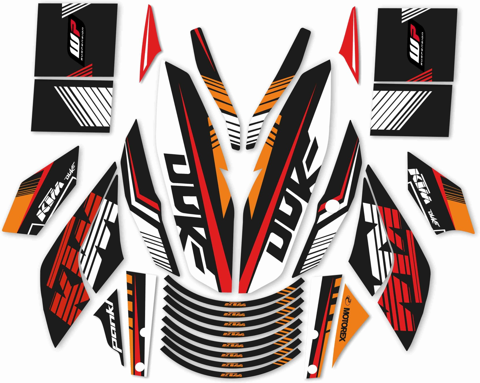 Cr decals designs ktm duke raceline kit motorcycle design sticker pack of 30