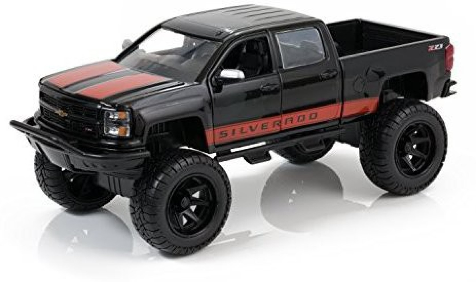 Just Chevy Trucks >> Generic 2014 Chevy Silverado Pickup Black W Red Details
