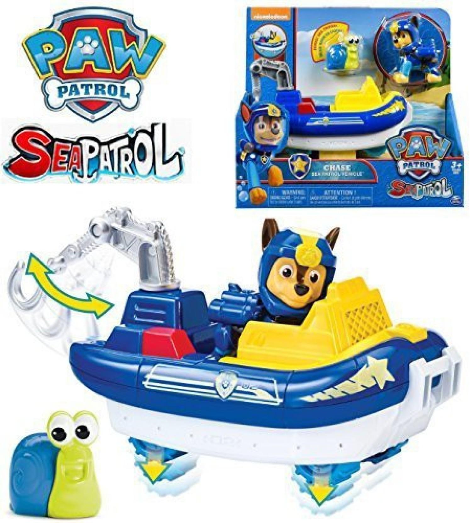 PAW Patrol Sea Patrol Chases Transforming Vehicle Bonus Sea Friend