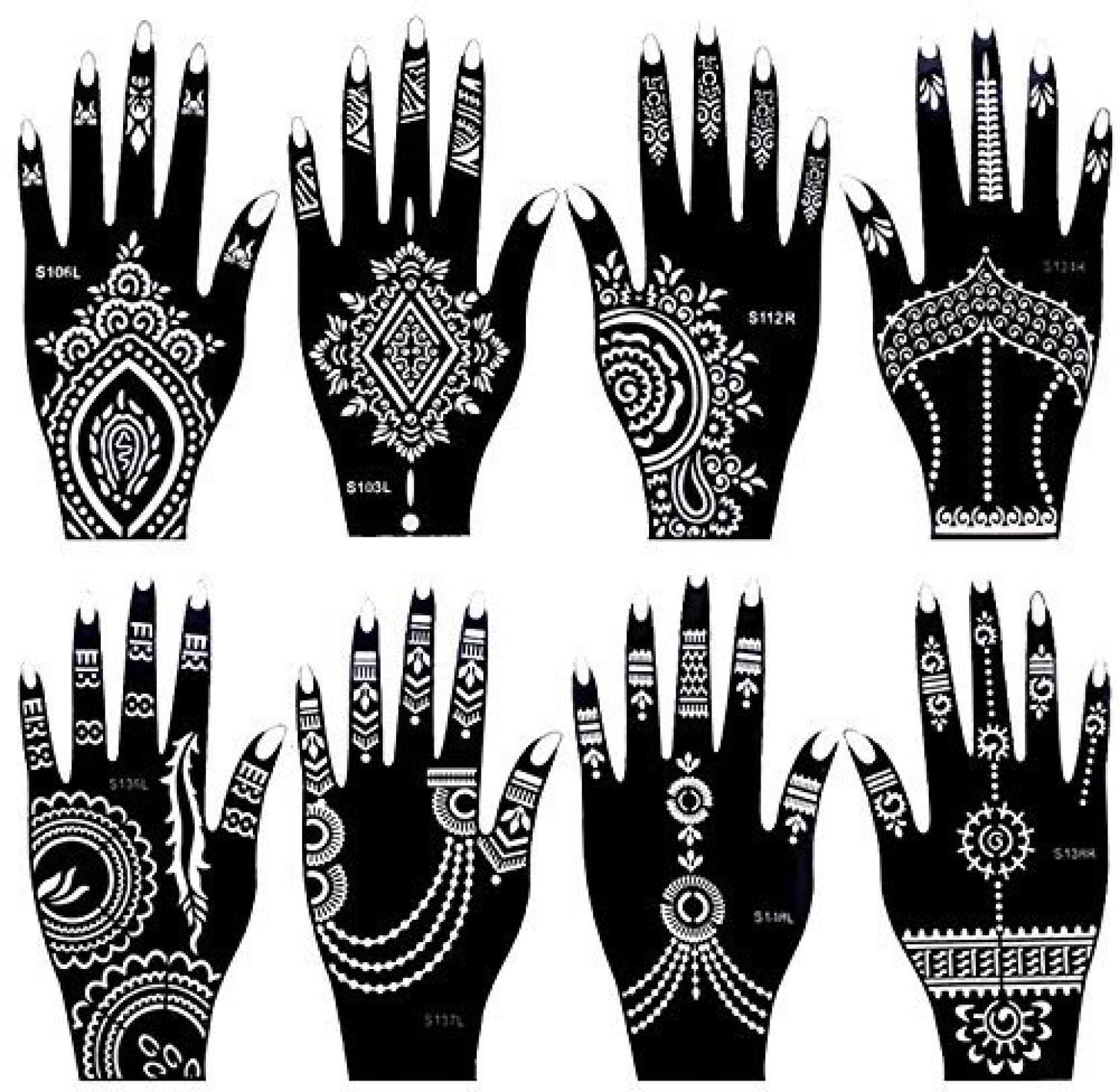 373a77c2e ... Tattoo Stencil Set for Women Girls Hand Finger Body Paint Temporary. ON  OFFER