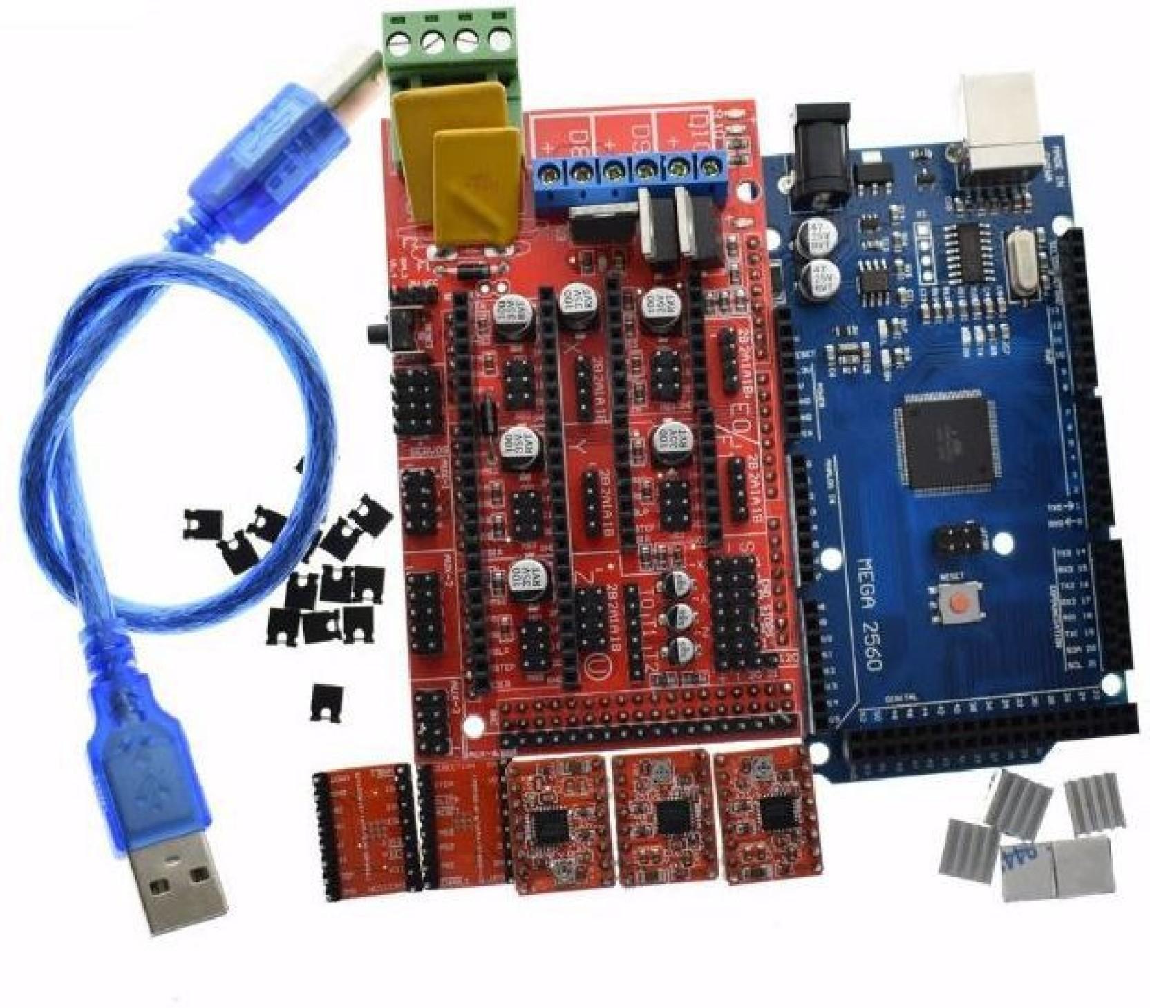 Technologybazar Ramps 14 Arduino Mega 2560 5pcs A4988 For Arduin Home