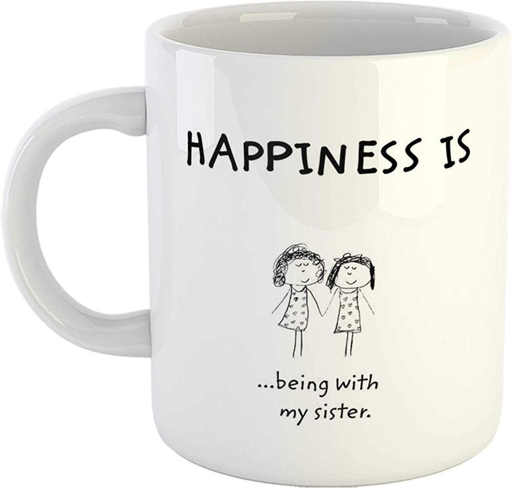 Ikraft Happiness Is Being With My Sister 11oz Cute Printed Coffeemug Circuit Board Manufactureronline Quoteprinted Add To Cart
