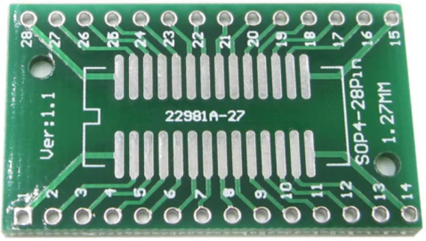 Kitsguru Tssop28 Ssop28 Adapter Smd Pcb Convert To Dip 28 For Ad9851 Circuit Board Wall Murals Add Cart