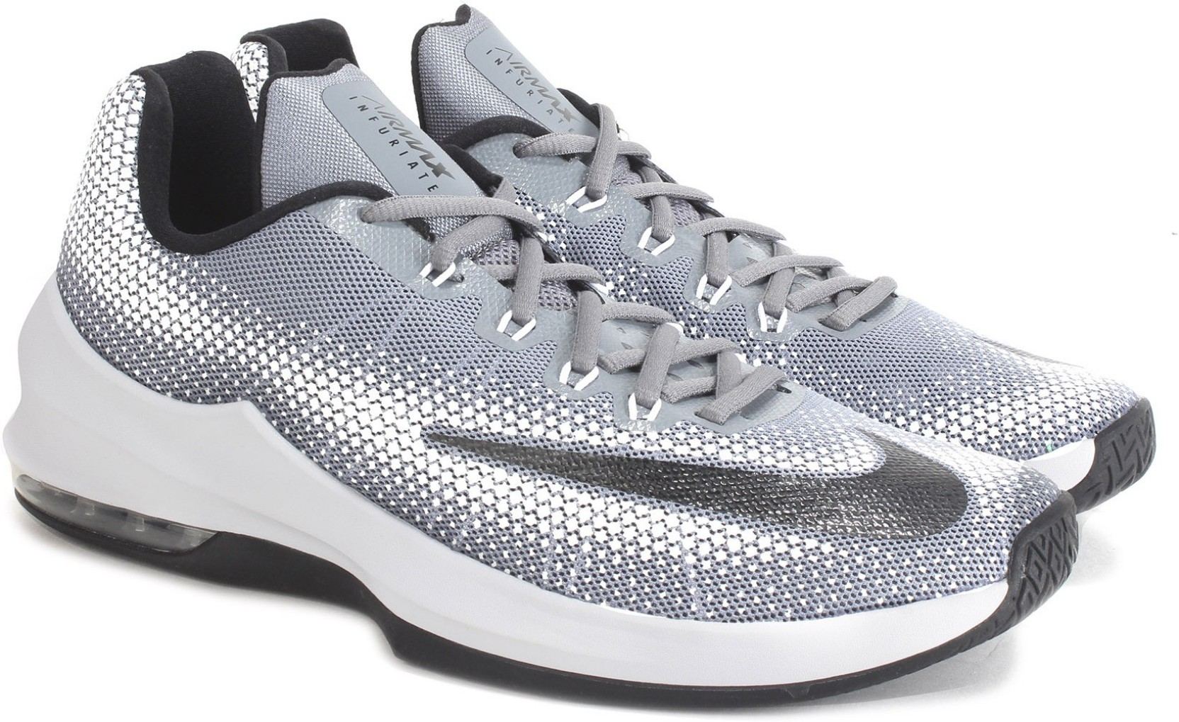 Nike AIR MAX INFURIATE LOW Basketball Shoes For Men - Buy COOL GREY ... f5602b020