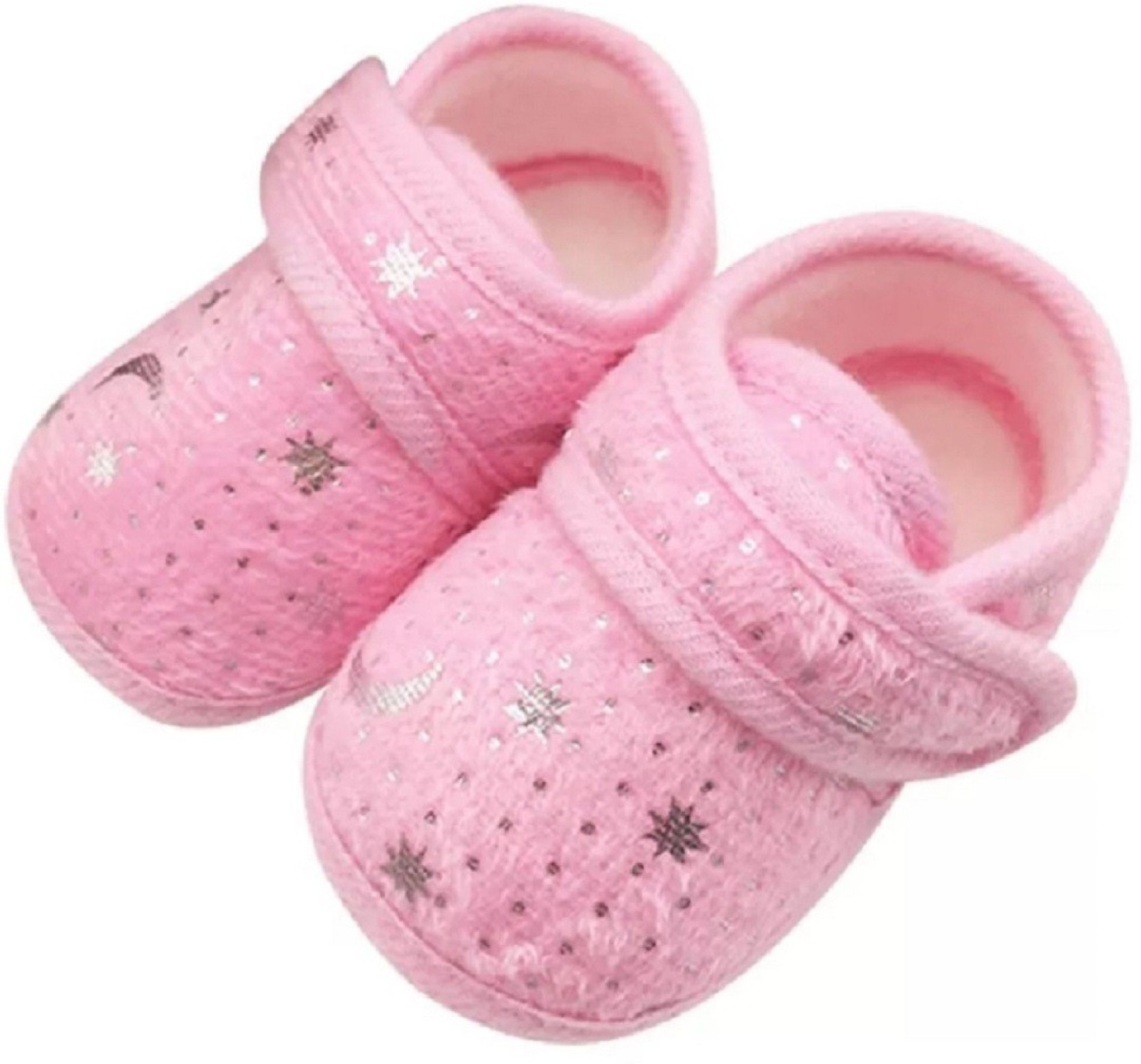 9e40b9ce3d4da6 Ziory Pink Toddler Soft Sole Crib Bling Sequins Shoes Belly Prewalker  Firstwalker Sandals for baby girls Booties (Toe to Heel Length - 12 cm Pink)