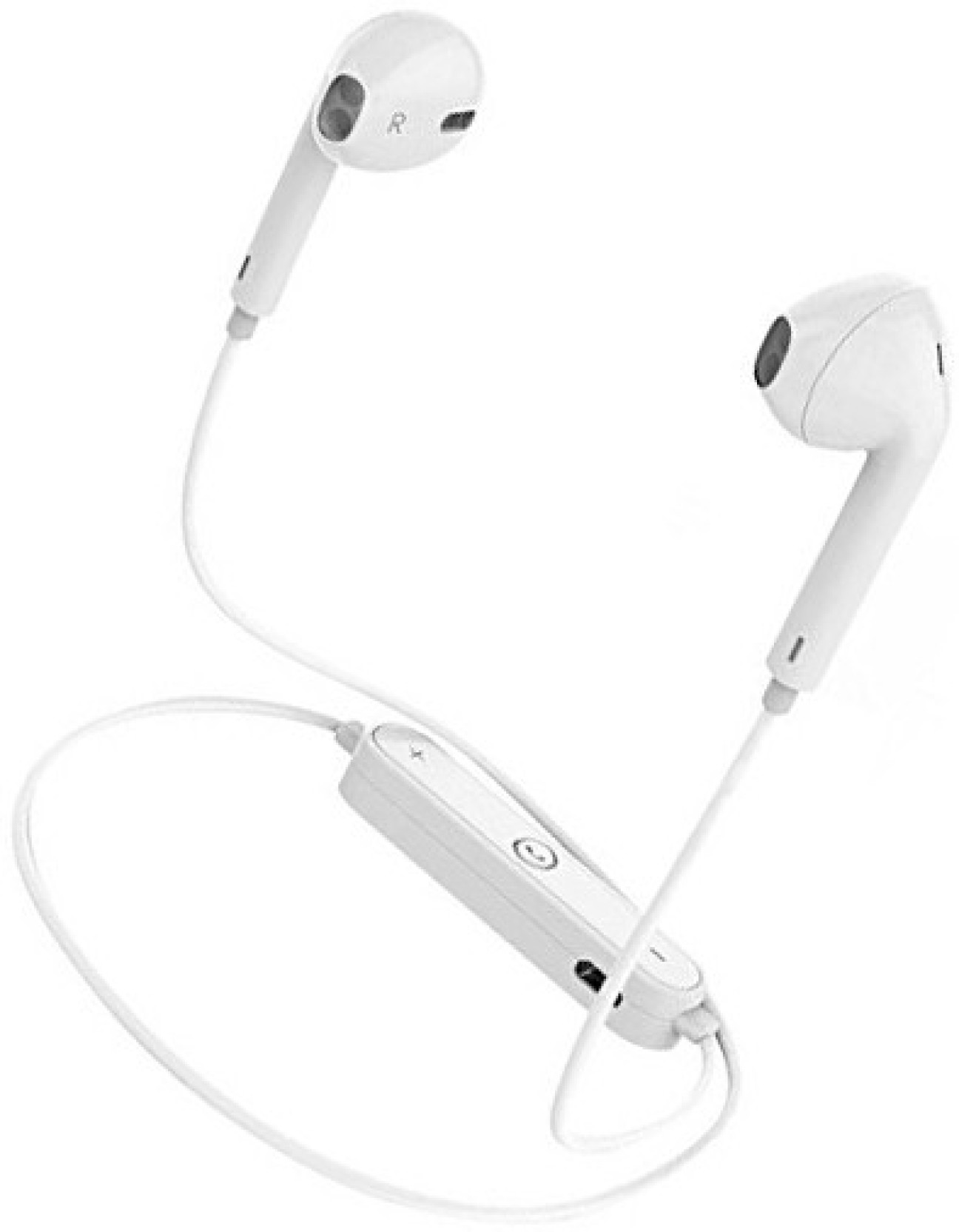 970f47e9456 CALLIE 6S Compatible Wireless Bluetooth Earphone Bluetooth Headset with Mic  (White, In the Ear)