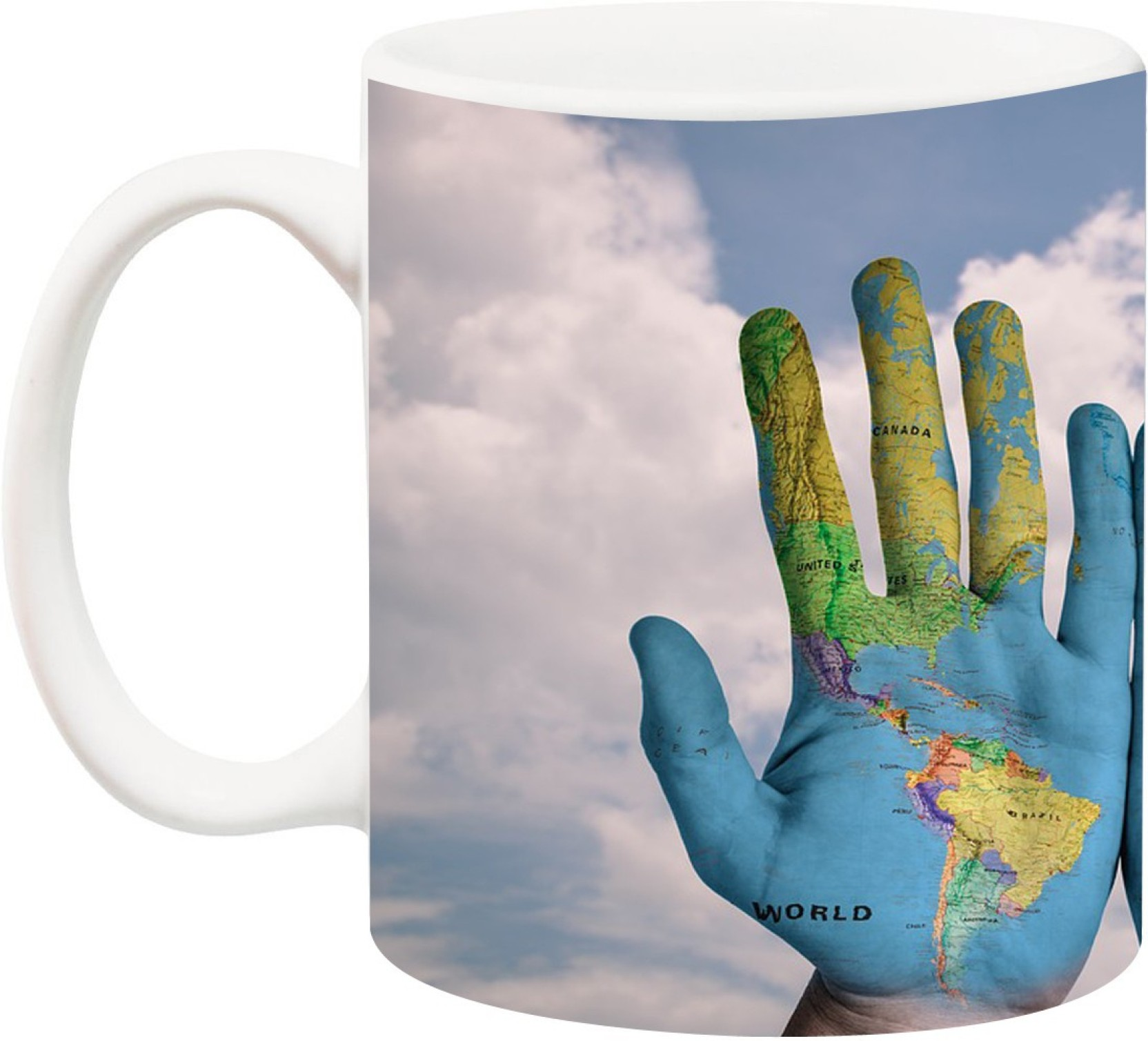 World Map On Hands.Anni69 World Map On Hands Bone China Mug Price In India Buy Anni69