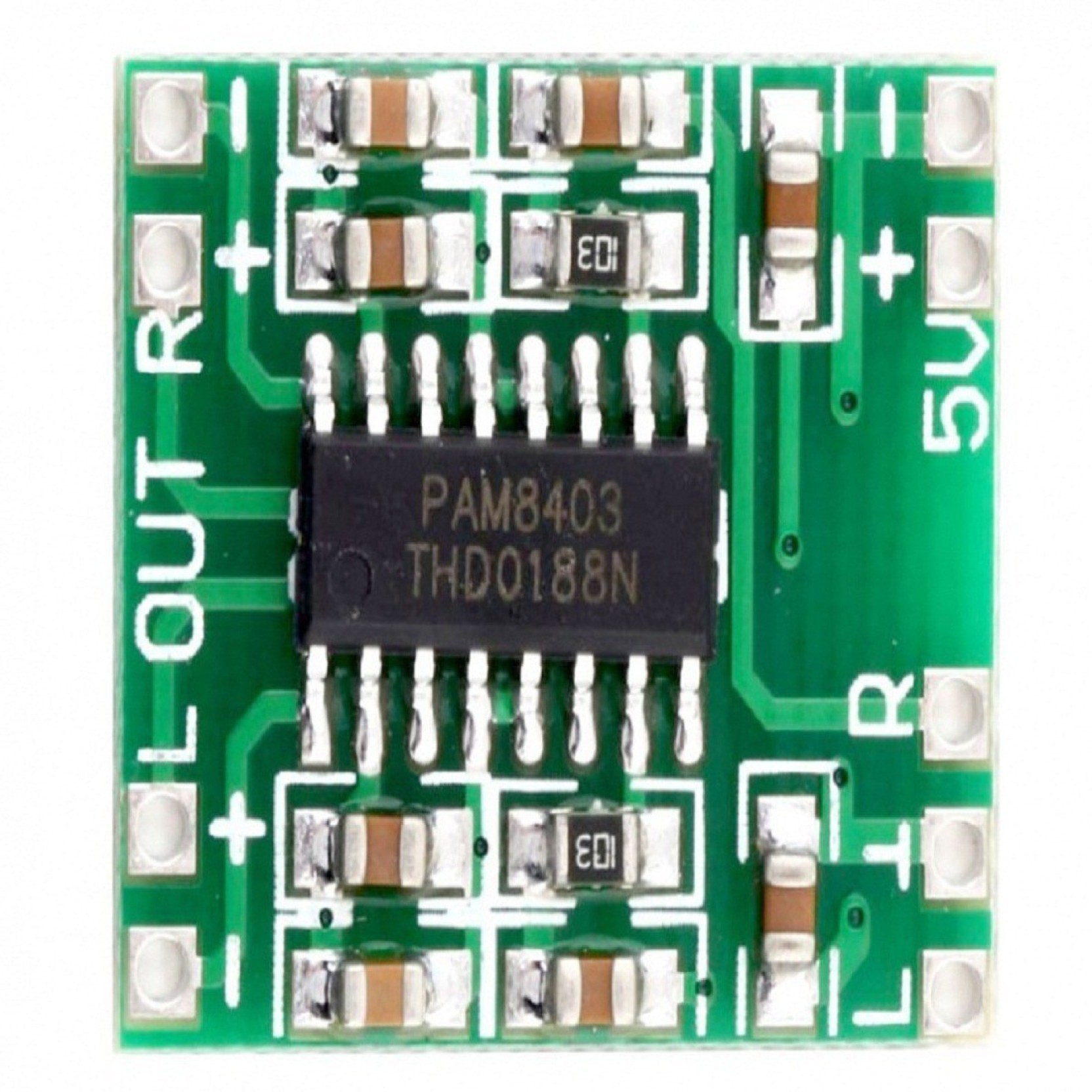 Techwiz 1pcs Pam8403 2x3w Mini Audio Class D Digital Amplifier Board 10w 25 5v Input C698 Educational Electronic Hobby Kit