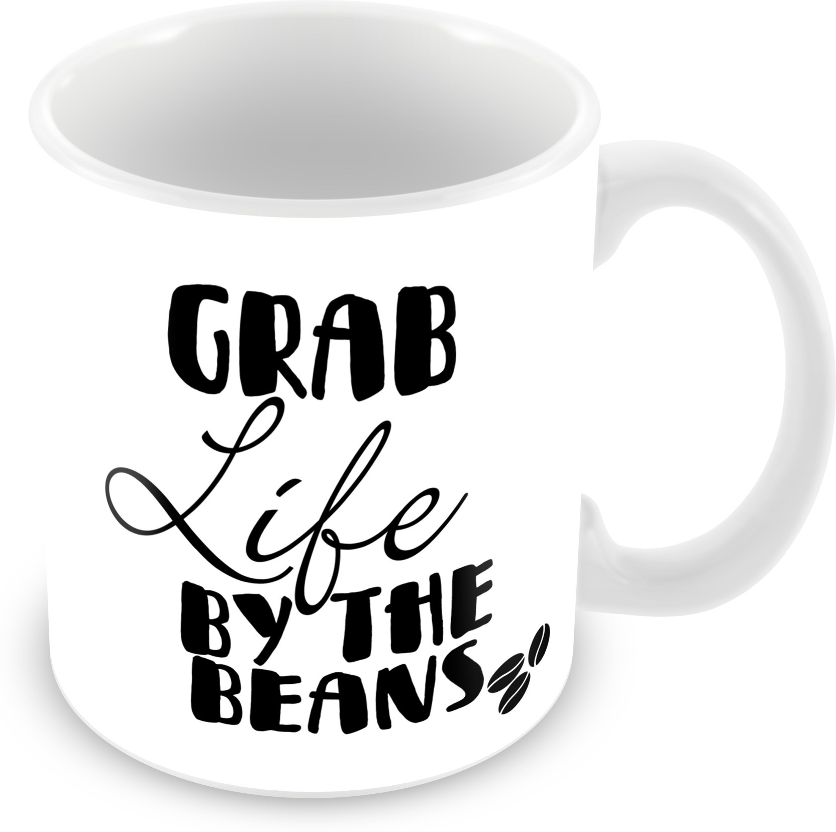 Tuelip Grab Life By The Beans Quotes For Tea And Coffee 350 Ml