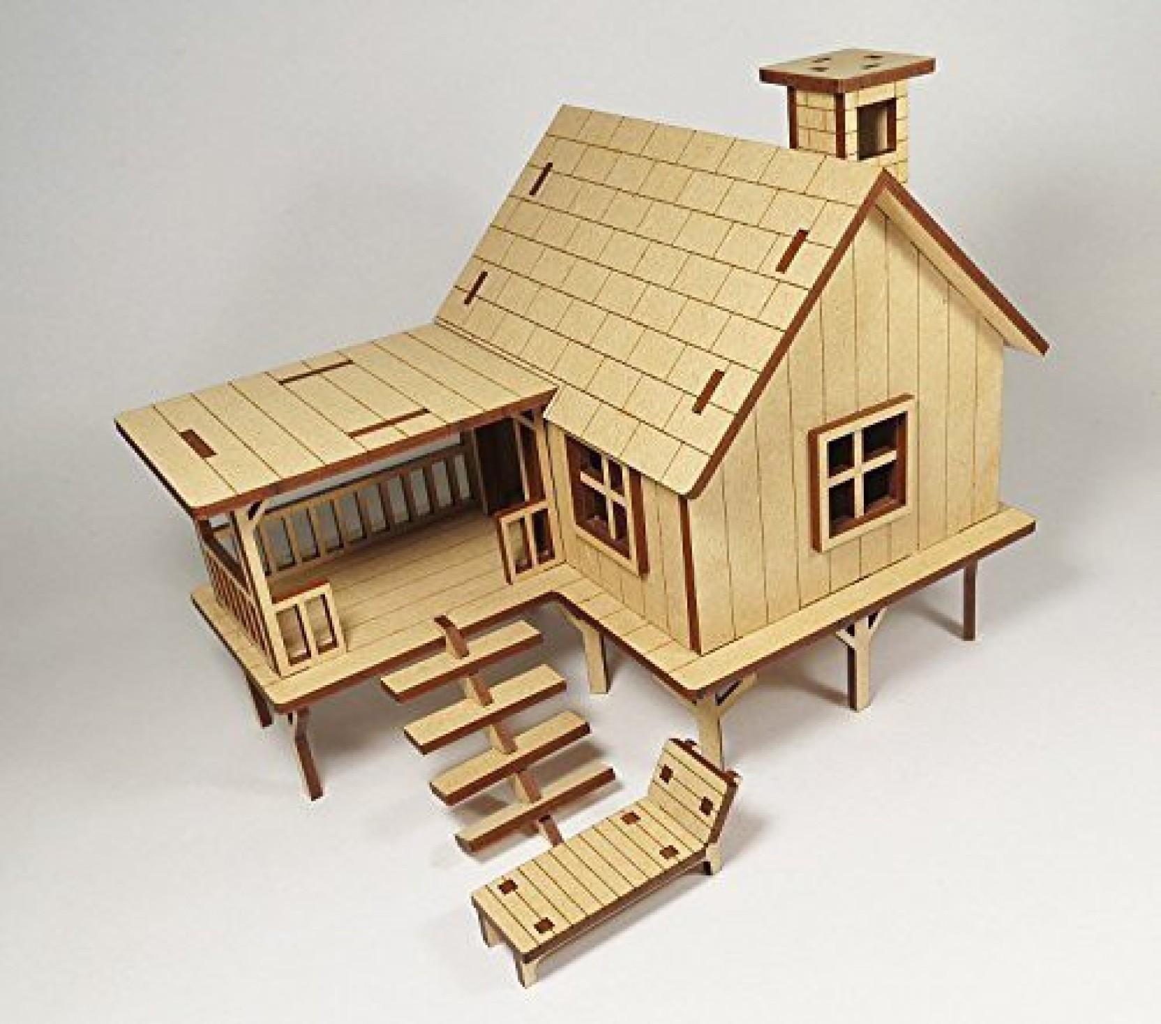 StonKraft Wooden 3D Puzzle Beach House - Home Decor