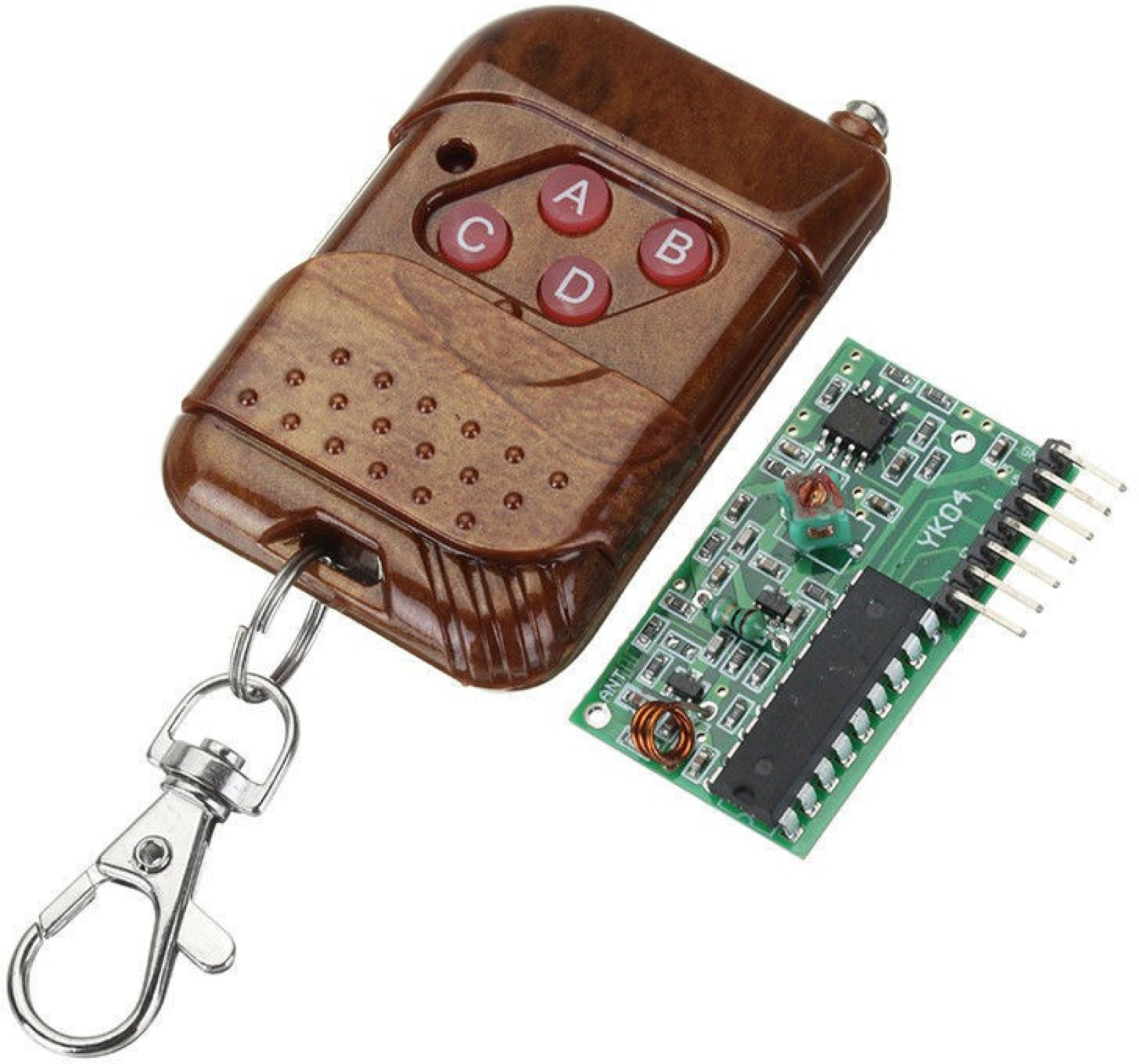 Technologybazar Ic 2262 2272 4channel 315mhz Key Wireless Remote Radio Control Using Dtmf Receiver Transceiver Kits Module Educational Electronic Home