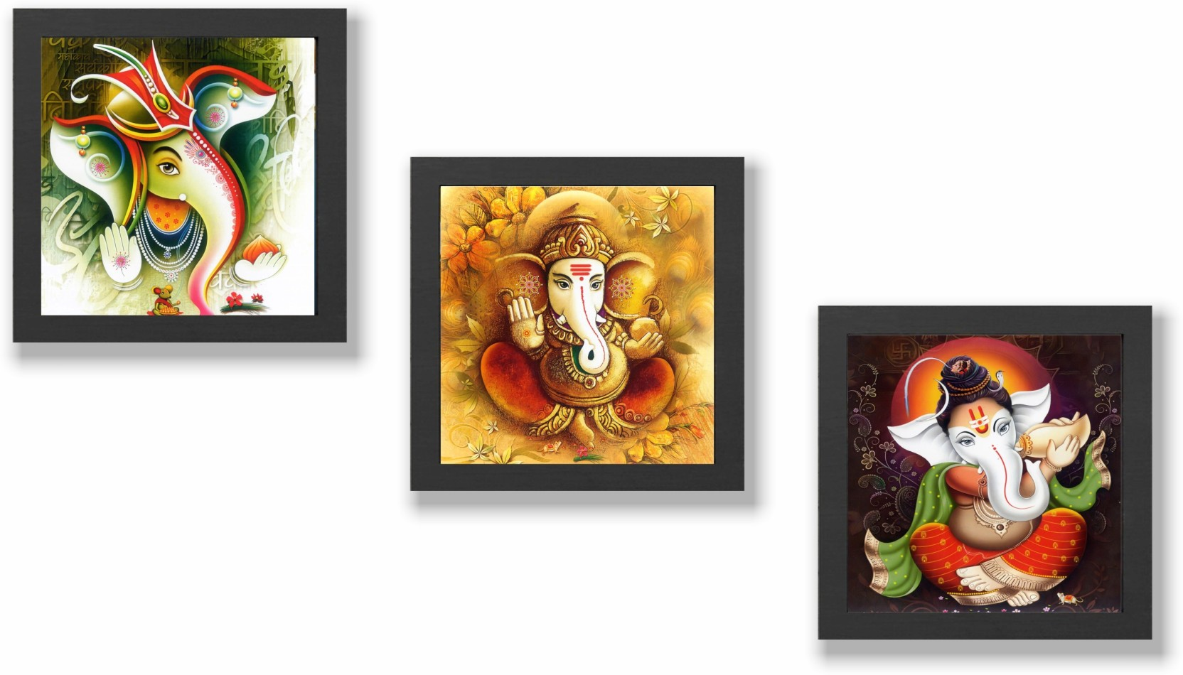 Lord Ganesha/Ganpati/ Framed Poster For Home And Office
