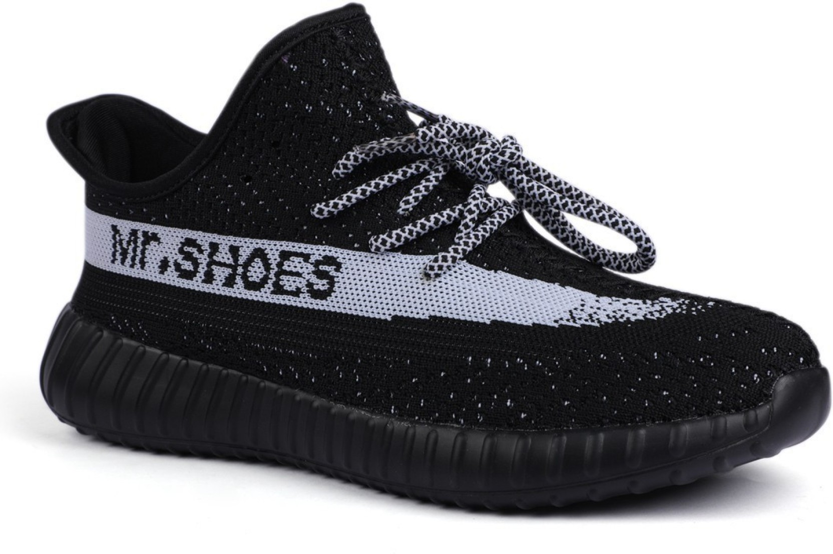 YZY-BLK/WHT BOOST 350 V2 Running Shoes