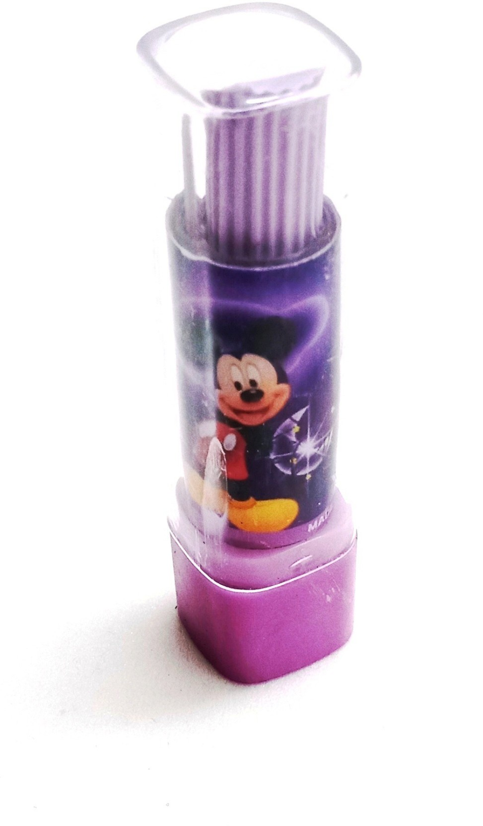 Lipstick Shaped Eraser Purple Style Me Up
